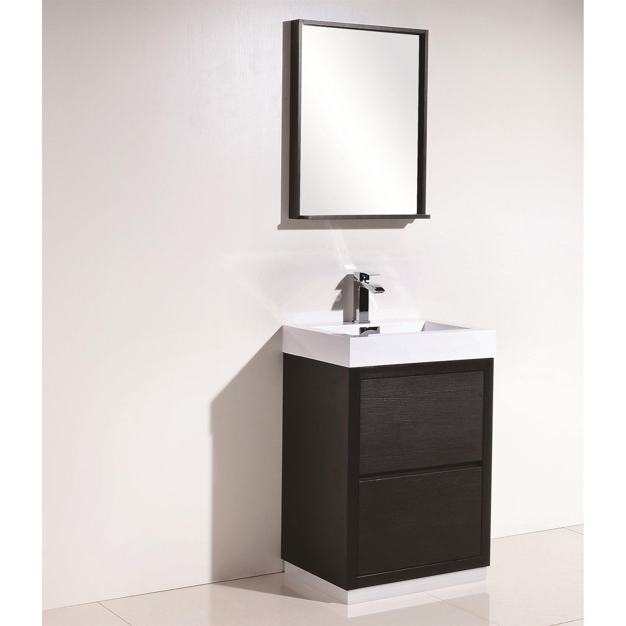 Kube bath bliss 24 single free standing modern bathroom - Contemporary bathroom vanity sets ...