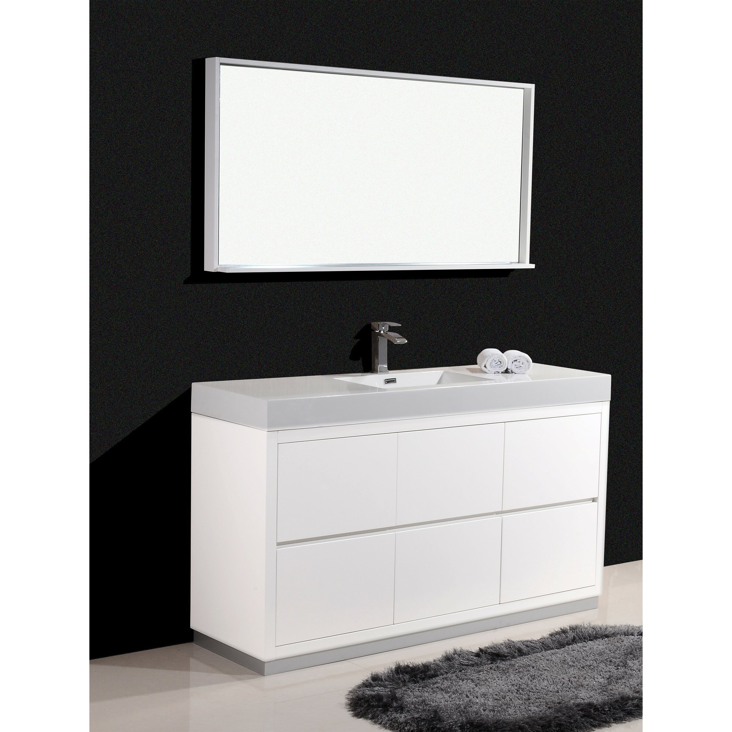 Kube Bath Bliss 60 Single Free Standing Modern Bathroom Vanity Set Reviews