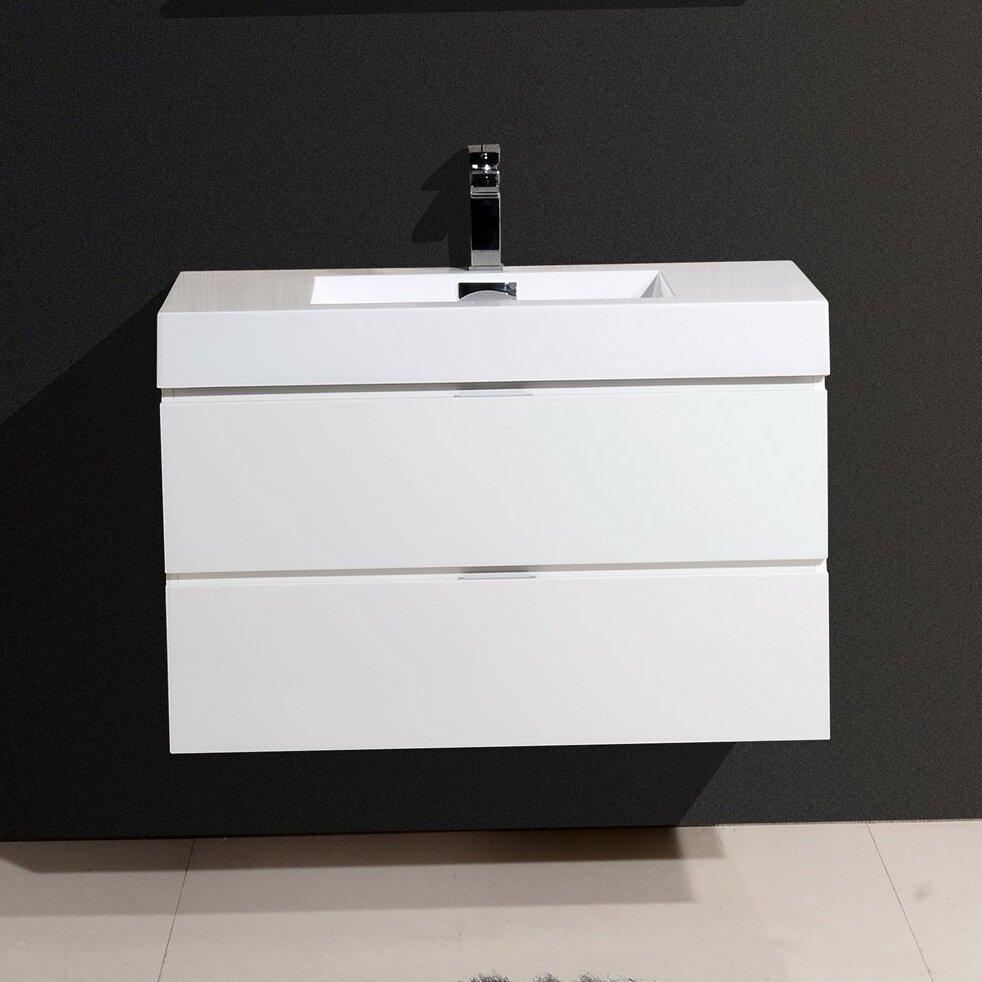 Kube Bath Bliss 36 Single Wall Mount Modern Bathroom Vanity Set Reviews Wayfair