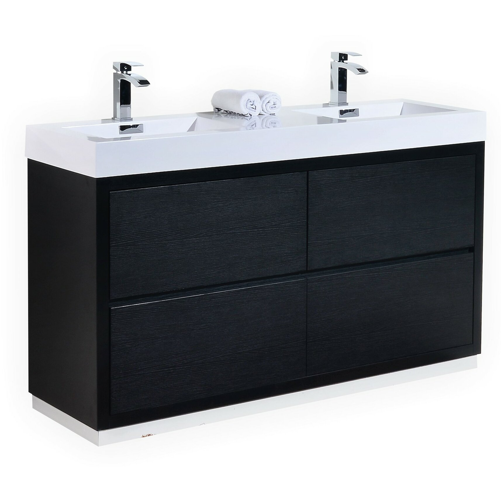 Kube Bath Bliss 60 Double Free Standing Modern Bathroom Vanity Set Reviews