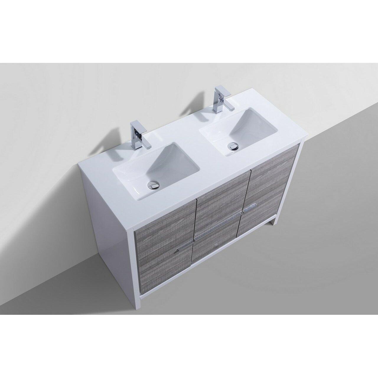 Kube Bath Dolce 48 Double Sink Modern Bathroom Vanity Reviews W