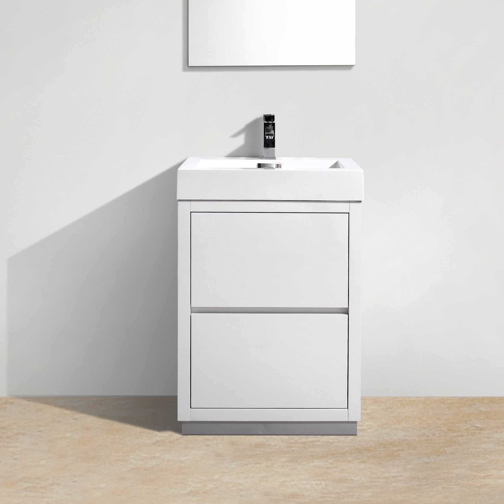 Kube Bath Bliss 24 Single Free Standing Modern Bathroom Vanity Set Reviews Wayfair
