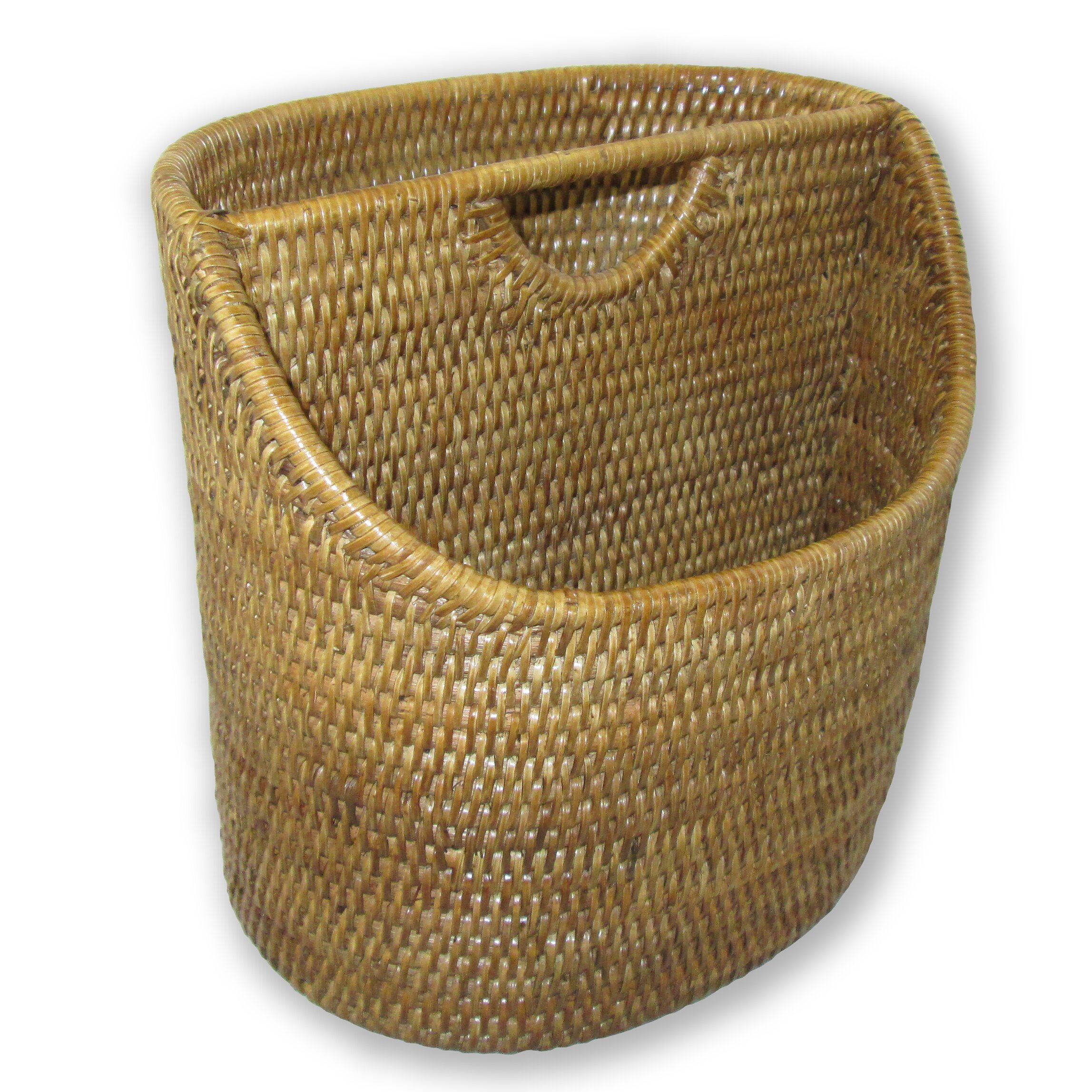 artifacts trading rattan cutaway oval letter basket