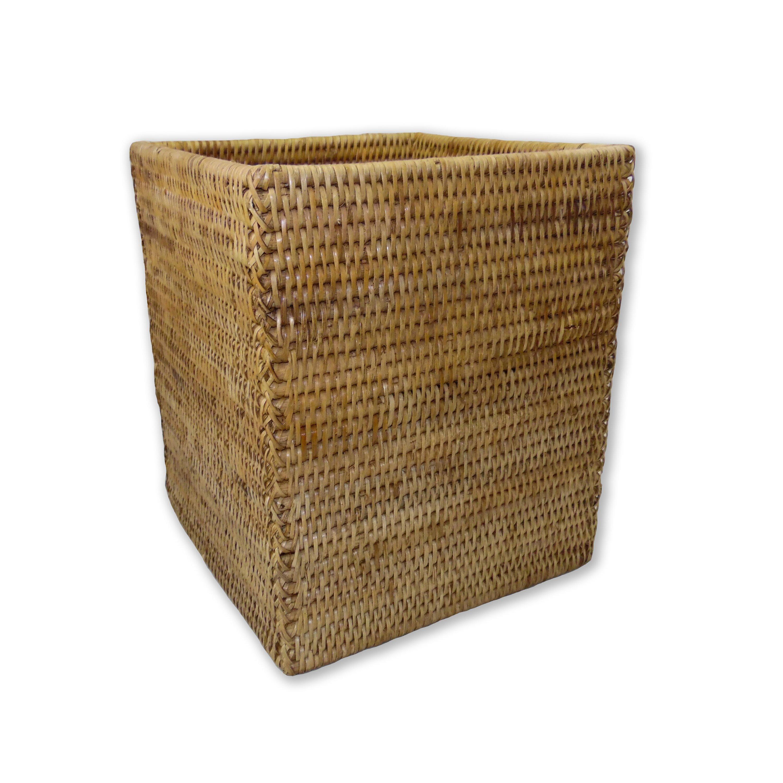 Artifacts trading rattan square waste basket reviews wayfair - Rattan waste basket ...