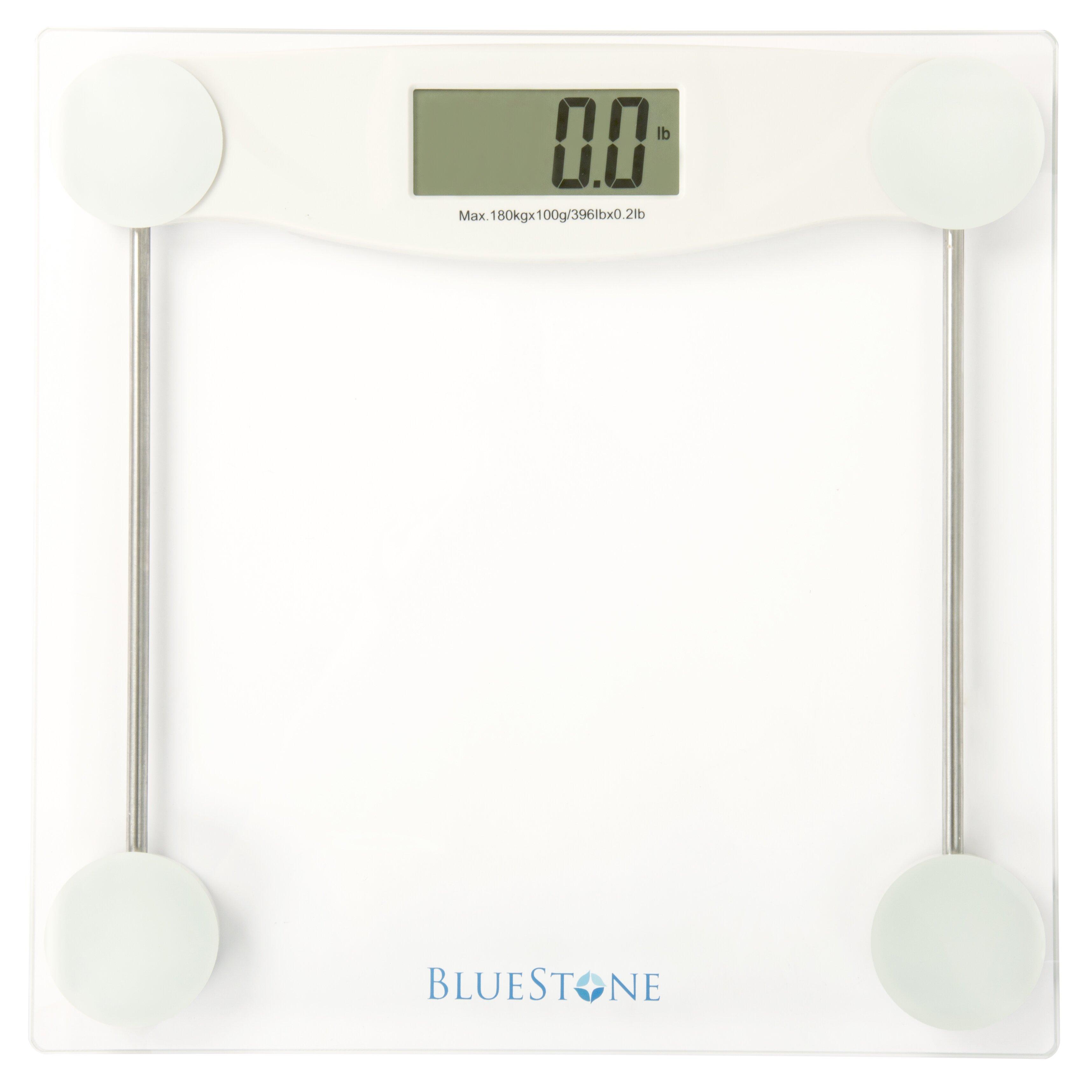 Bluestone Digital Glass Bathroom Scale With LCD Display Reviews Wayfair