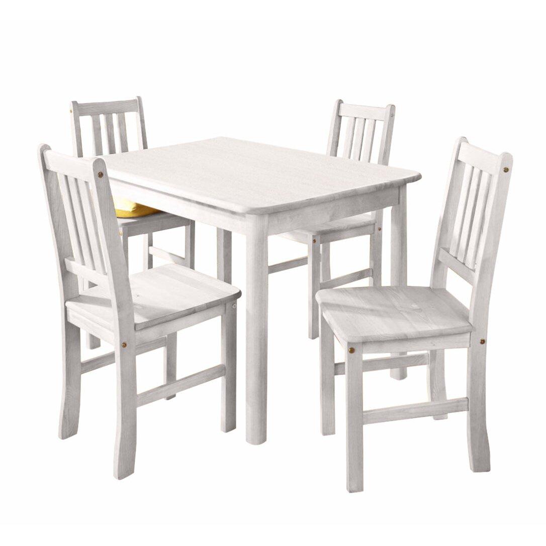 Hokku designs maine dining table and 4 chairs wayfair uk for Hokku designs dining room furniture