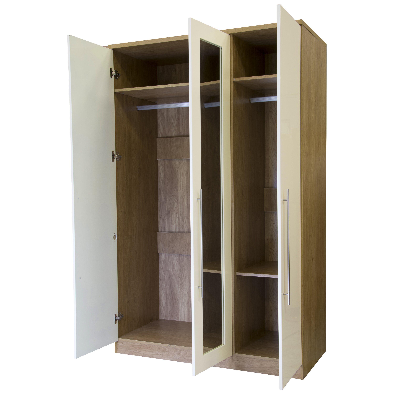 home loft concept kendall 3 door wardrobe reviews wayfair uk. Black Bedroom Furniture Sets. Home Design Ideas