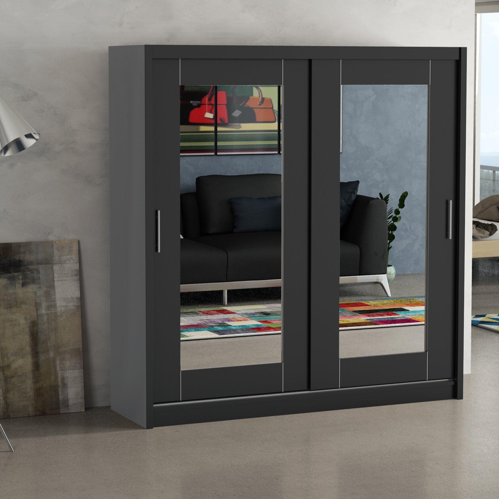 home loft concept annabelle 2 door wardrobe wayfair uk. Black Bedroom Furniture Sets. Home Design Ideas