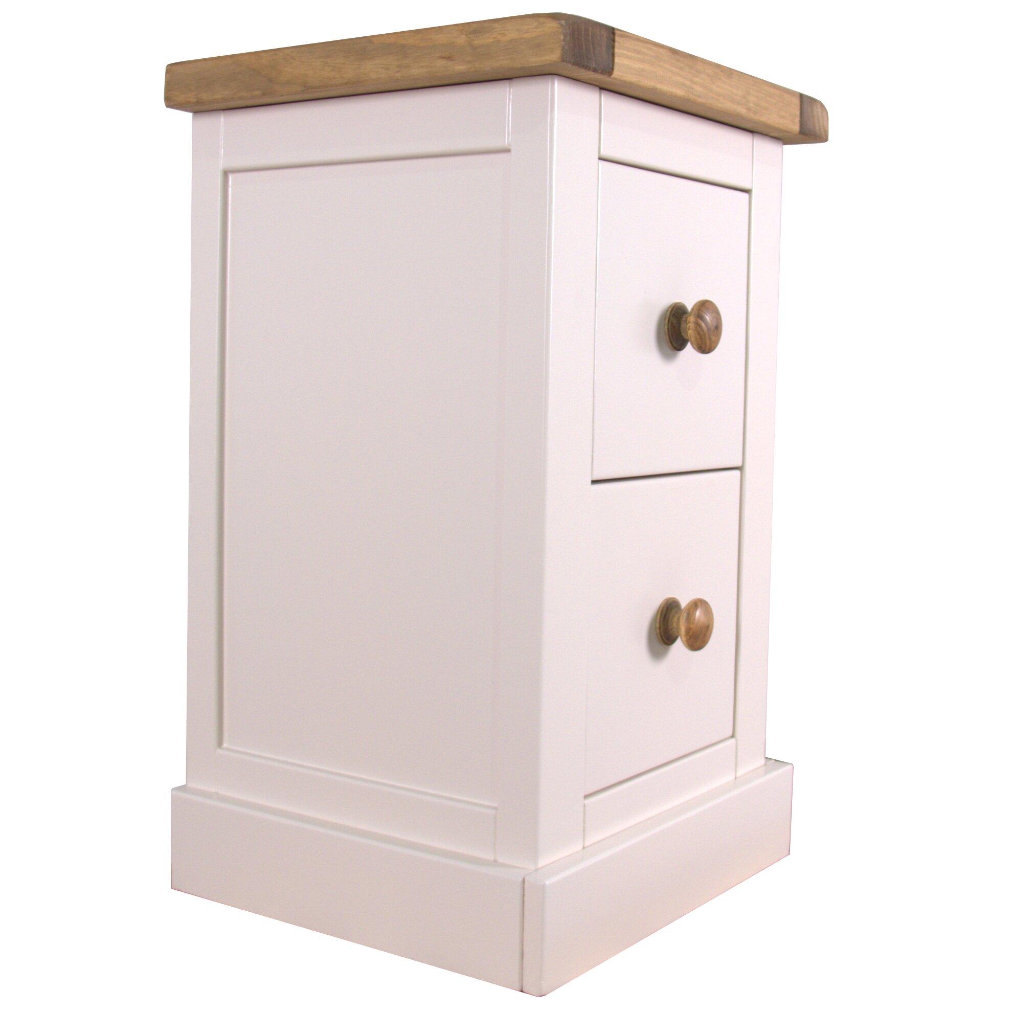 hazelwood home 2 drawer bedside table reviews wayfair uk. Black Bedroom Furniture Sets. Home Design Ideas