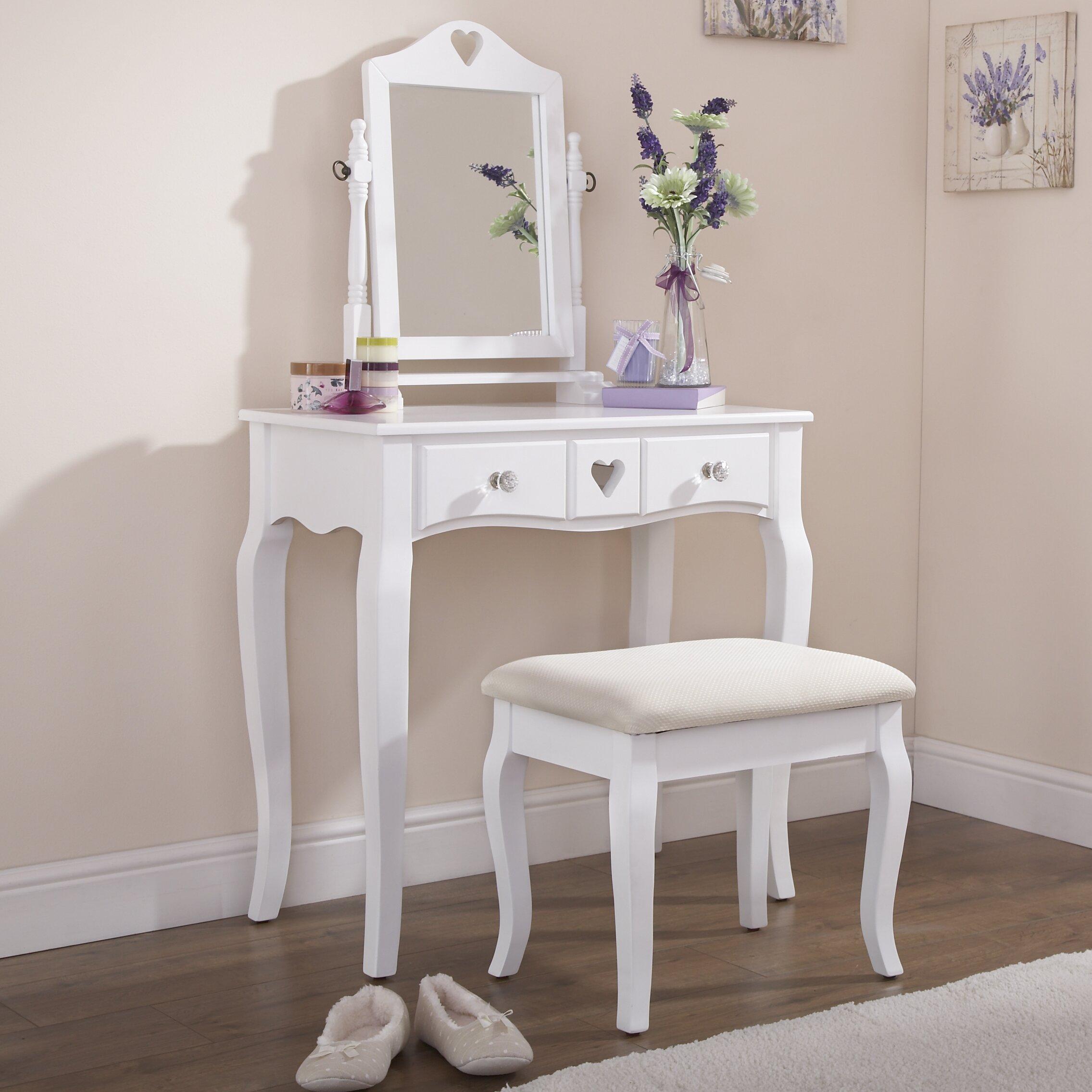 Hazelwood home schminktisch set mit spiegel bewertungen - Schlafzimmer mit schminktisch ...