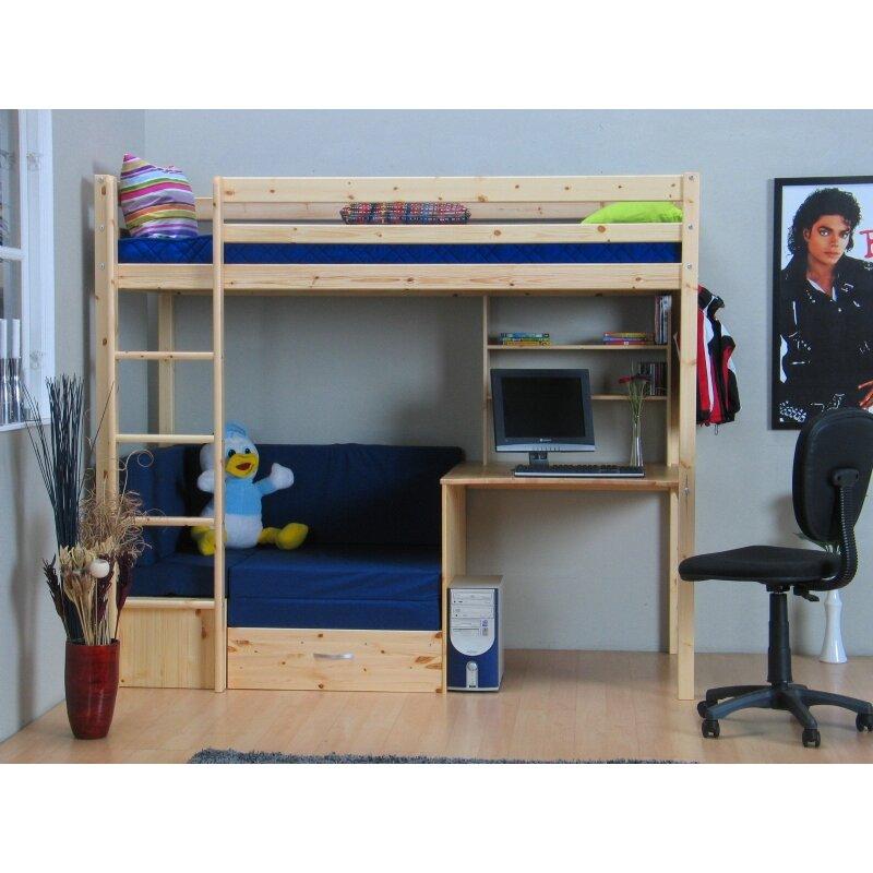 hazelwood home hochbett thuka kids mit couch 90 x 200 cm. Black Bedroom Furniture Sets. Home Design Ideas