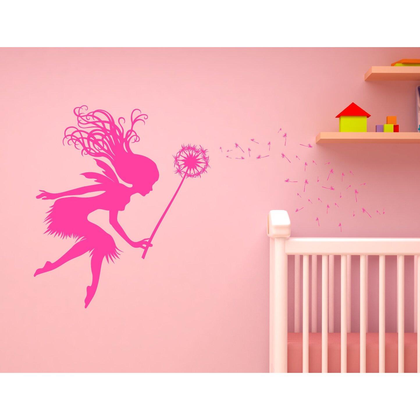 innovative stencils fairy tale dandelion wand nursery wall. Black Bedroom Furniture Sets. Home Design Ideas