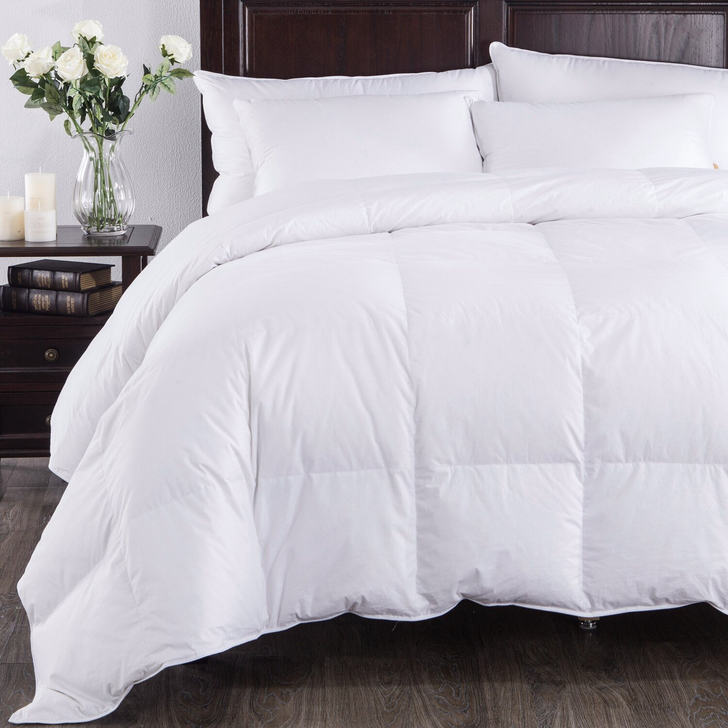puredown super down comforter duvet insert reviews wayfair. Black Bedroom Furniture Sets. Home Design Ideas