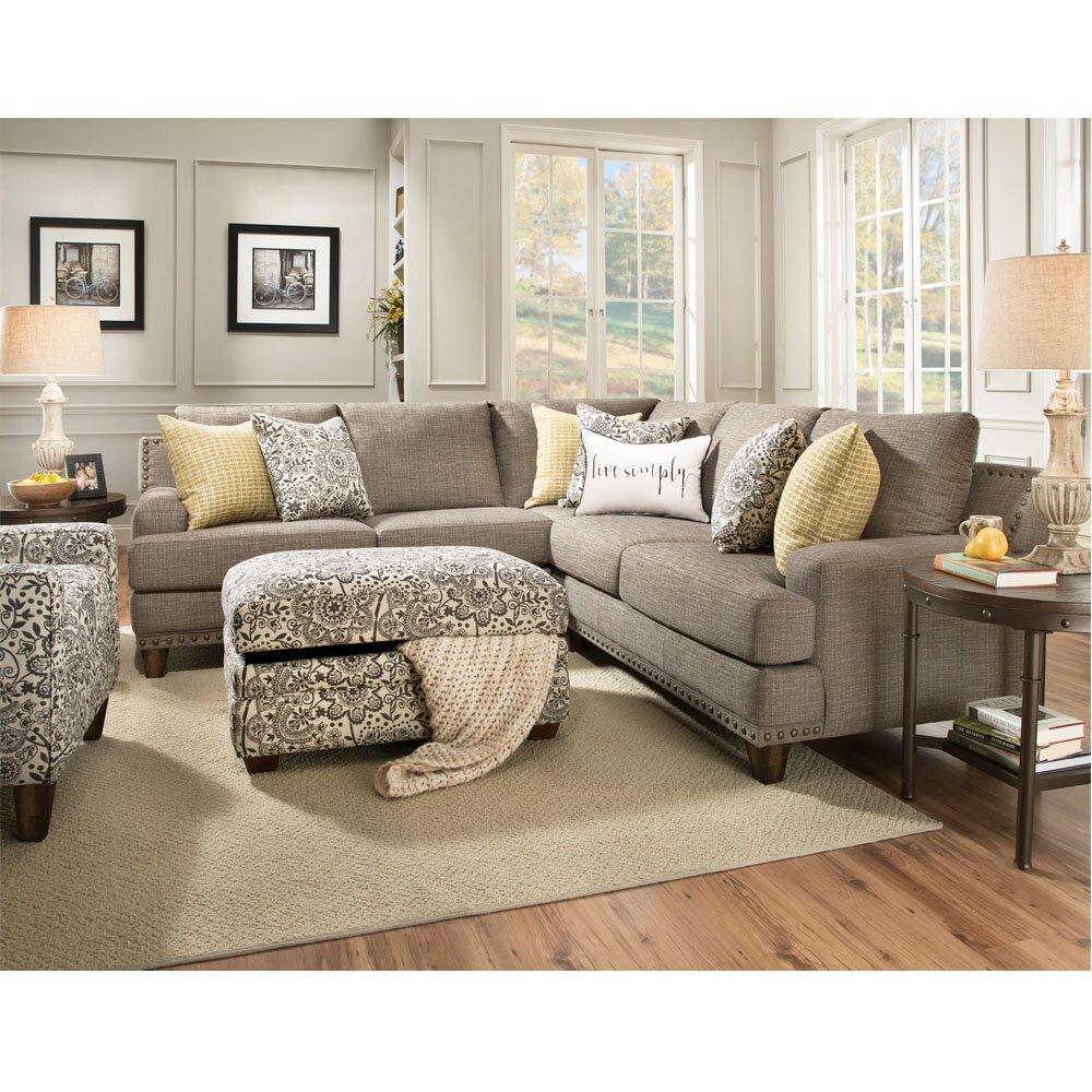 Canora grey stockbridge sectional reviews wayfair for Gray sectional sofa wayfair