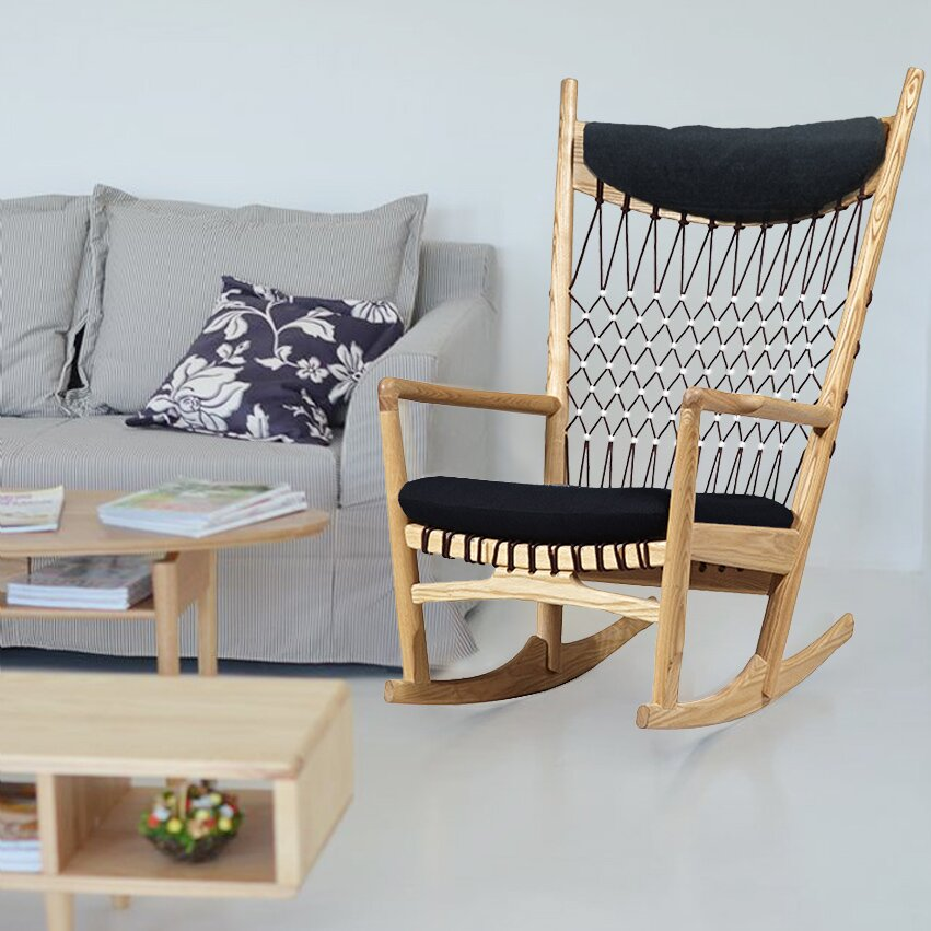 Furniture Living Room Furniture ... Wood Rocking Chairs Mod Made SKU ...