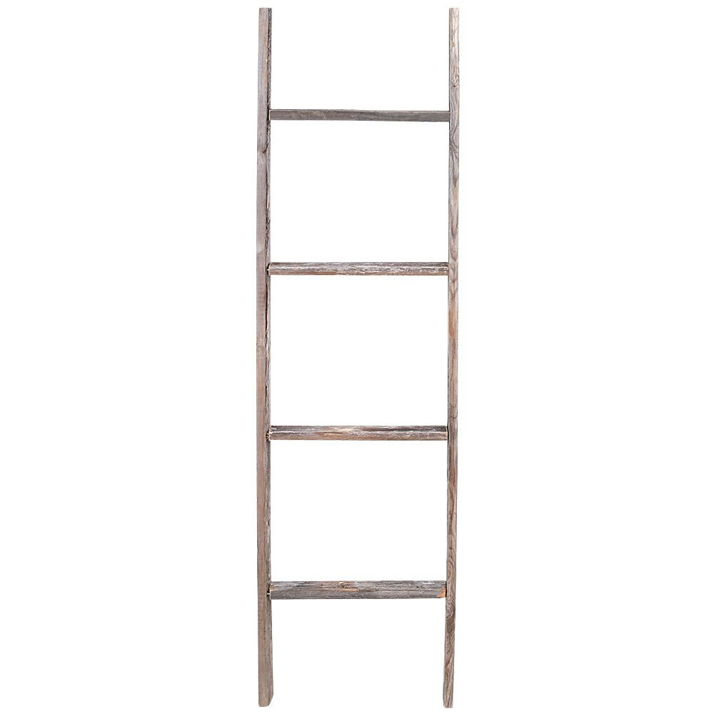 Rusticdecor 4 Ft Wood Rustic Decorative Straight Ladder