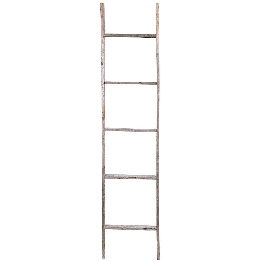 Rusticdecor 5 Ft Wood Rustic Decorative Straight Ladder