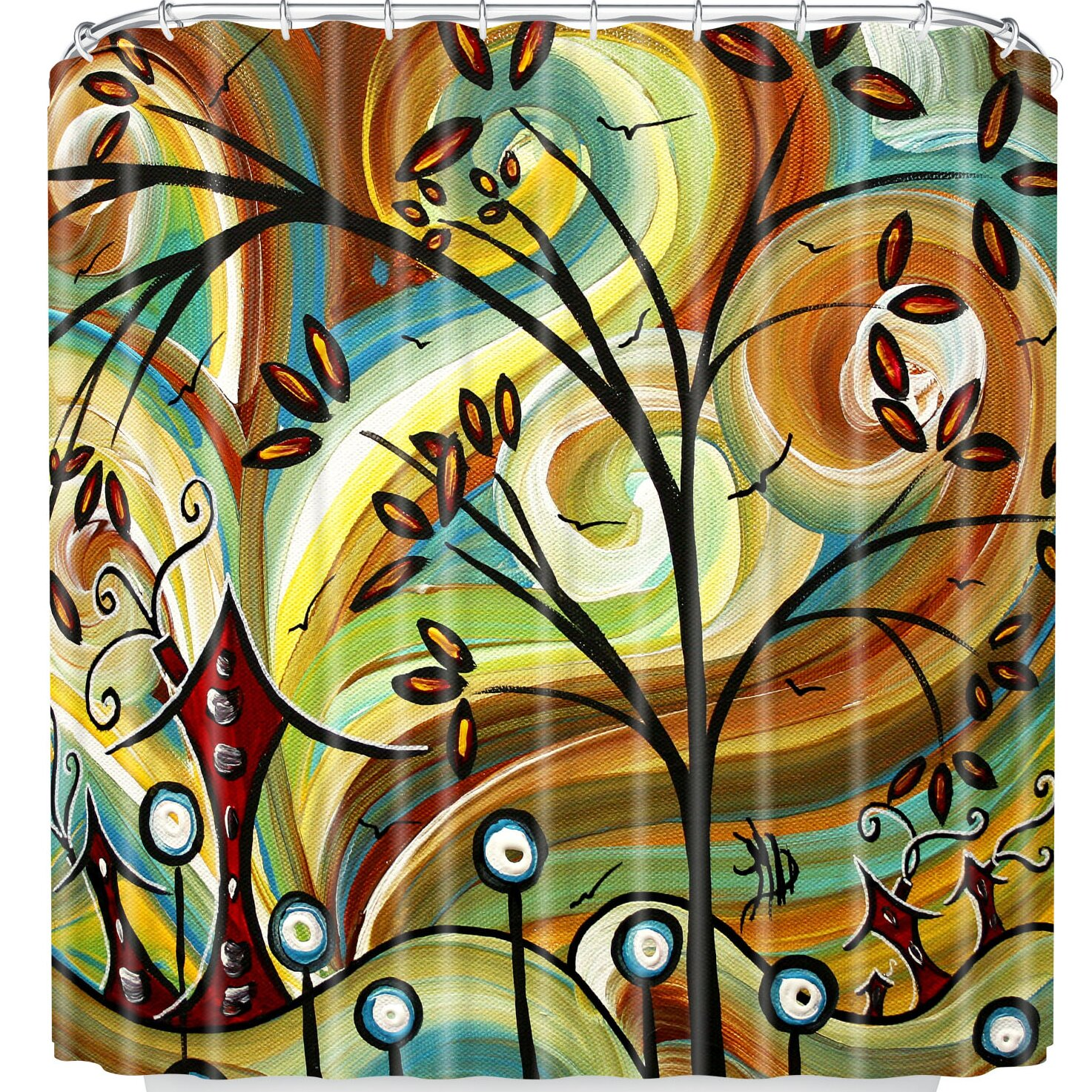 East Urban Home Madart Inc Fall Colors Shower Curtain