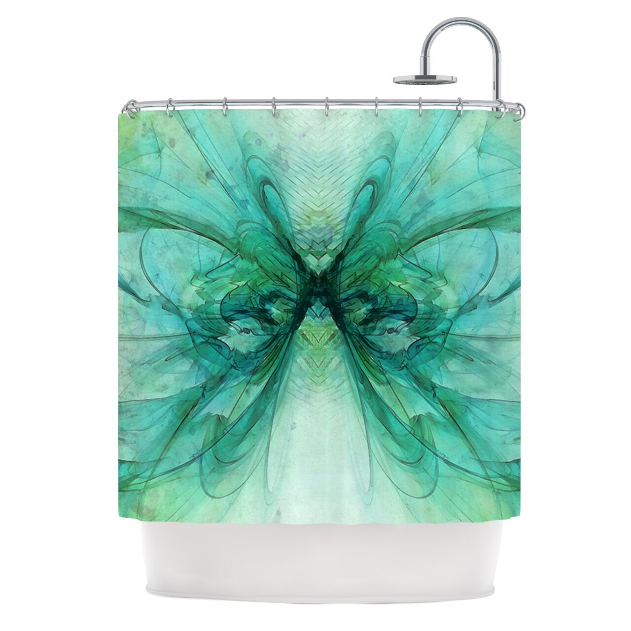 east urban home butterfly shower curtain wayfair