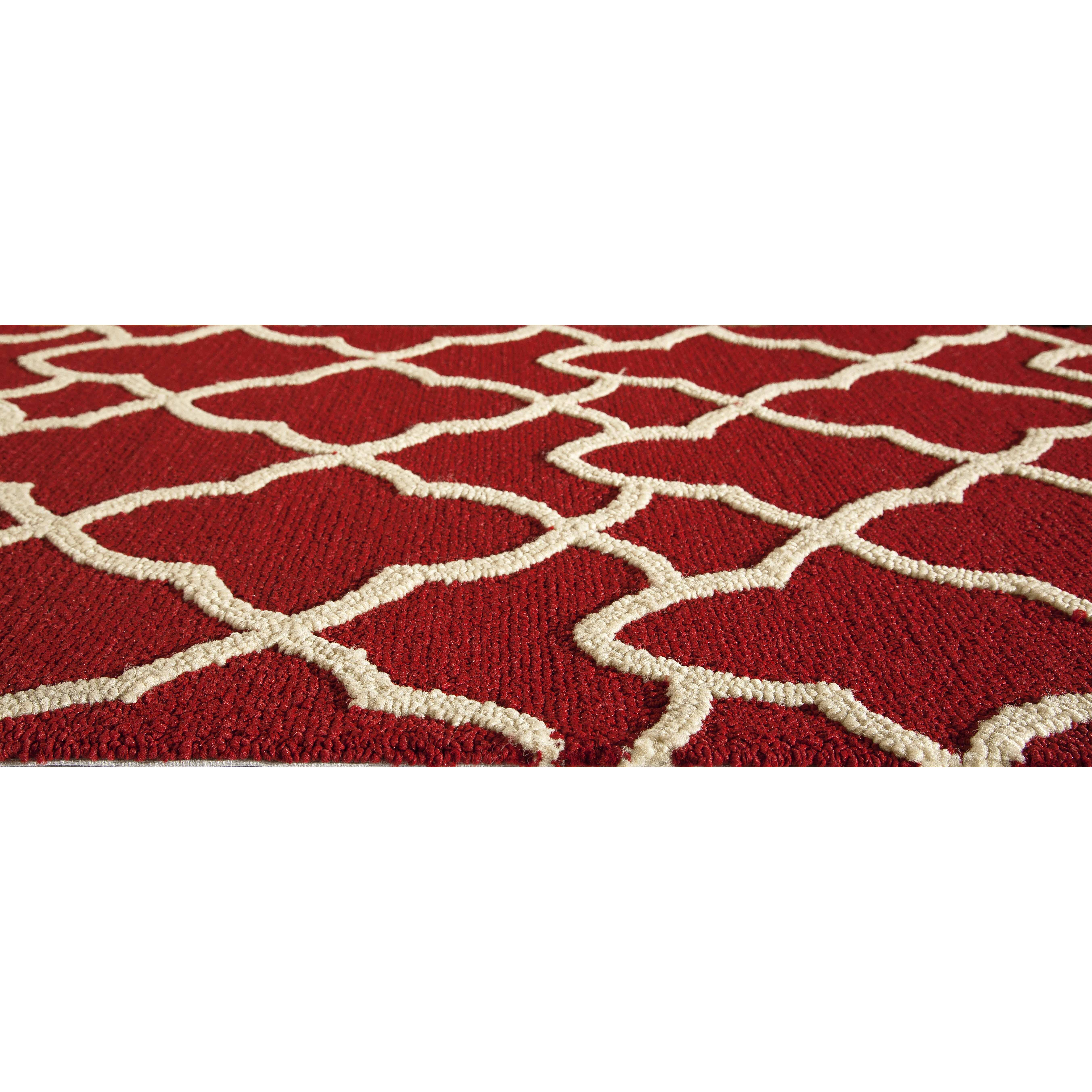 The Conestoga Trading Co Red Indoor Outdoor Area Rug