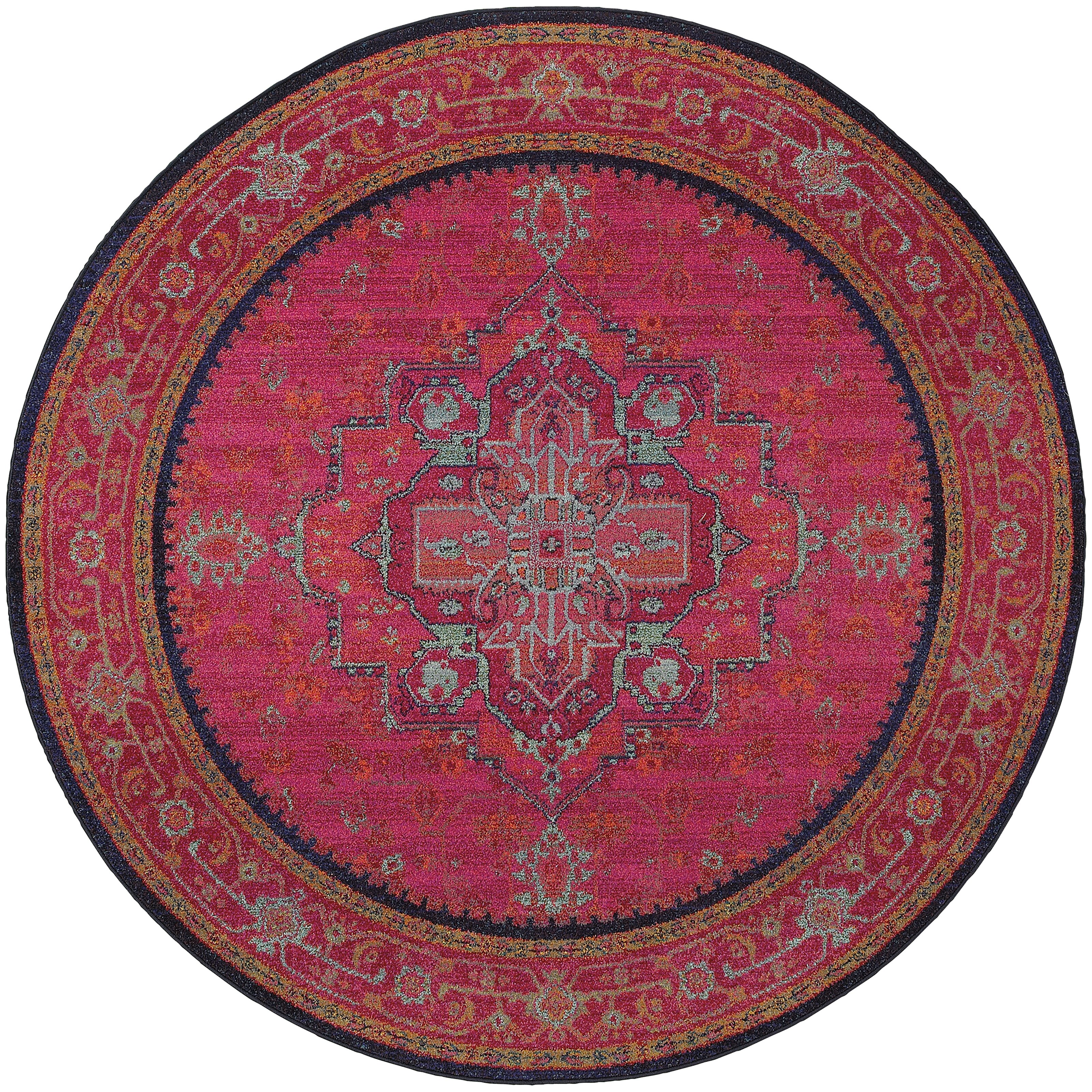 the conestoga trading co aura updated traditional pink blue area rug reviews. Black Bedroom Furniture Sets. Home Design Ideas