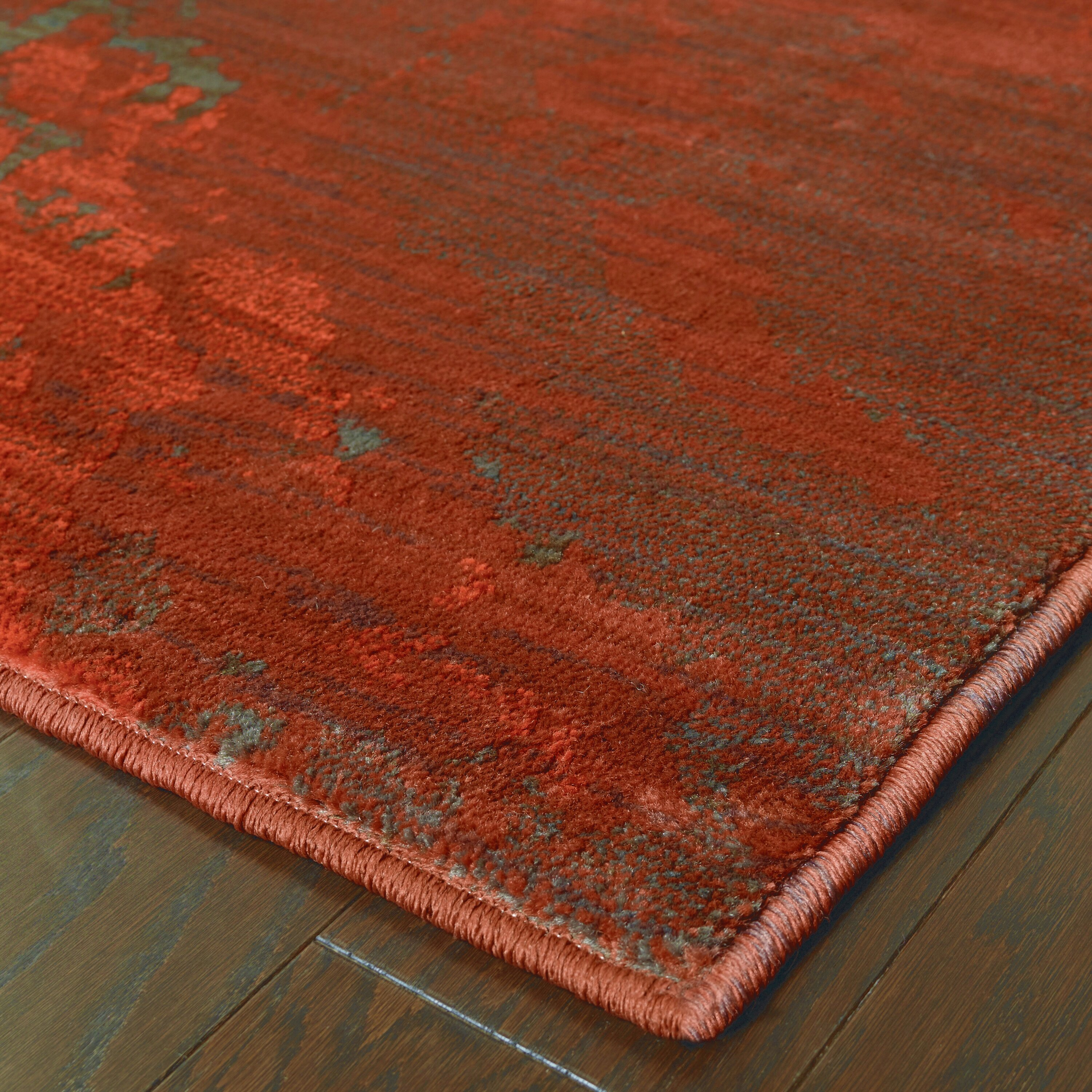 the conestoga trading co agave red grey area rug reviews wayfair. Black Bedroom Furniture Sets. Home Design Ideas