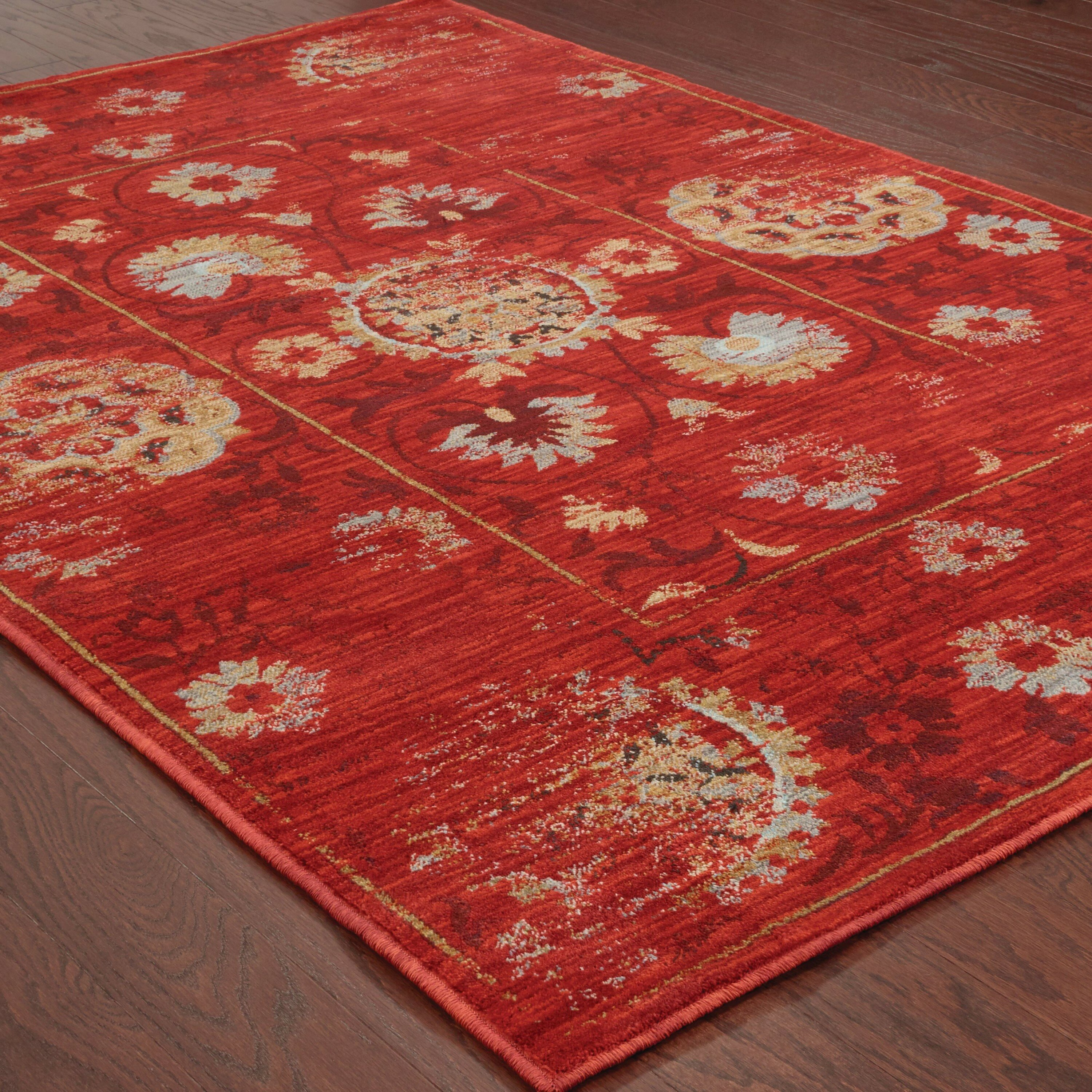 The Conestoga Trading Co Agave Red Gold Area Rug Wayfair Ca