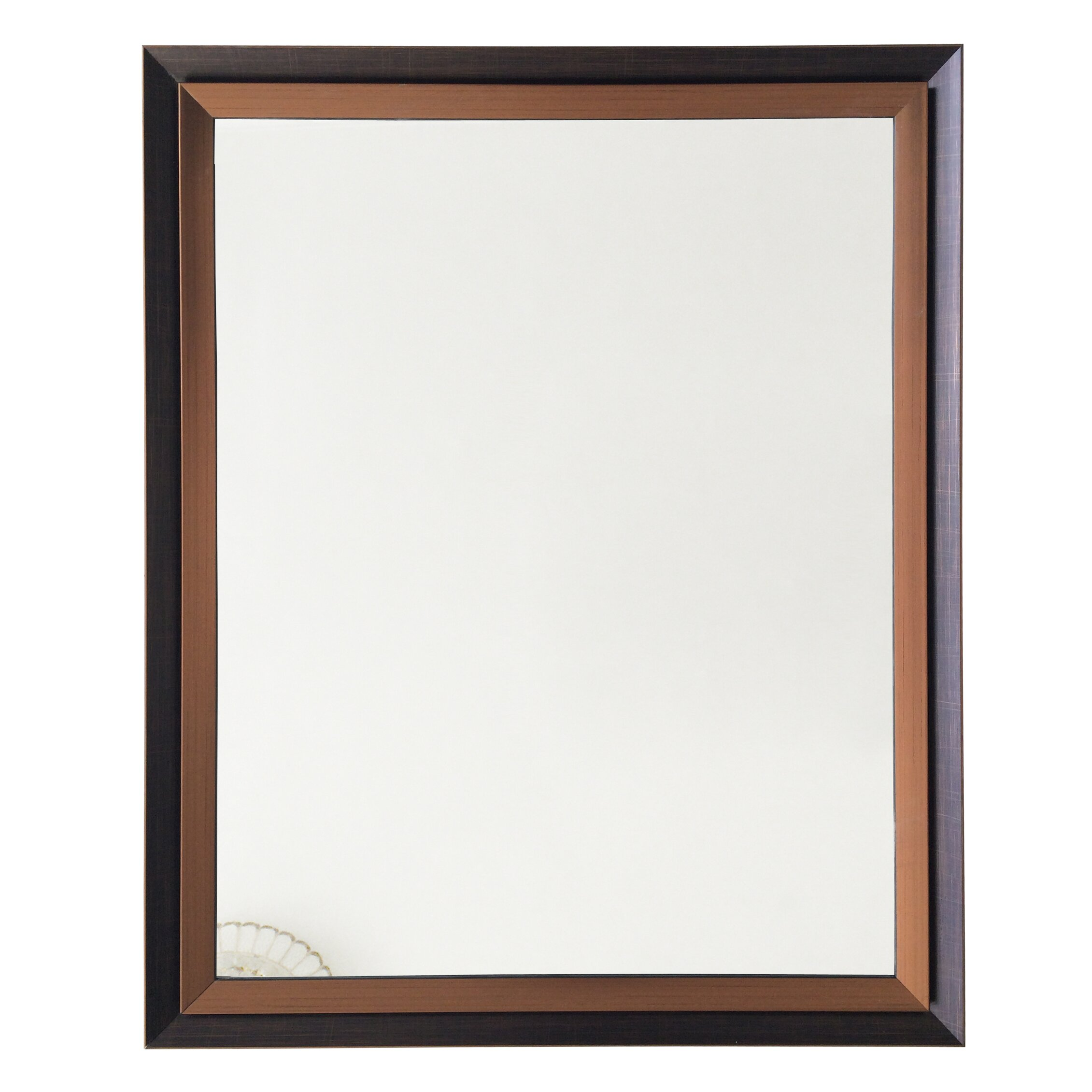 Kingwinhomedecor framed wall mirror reviews wayfair for Mirror wall art