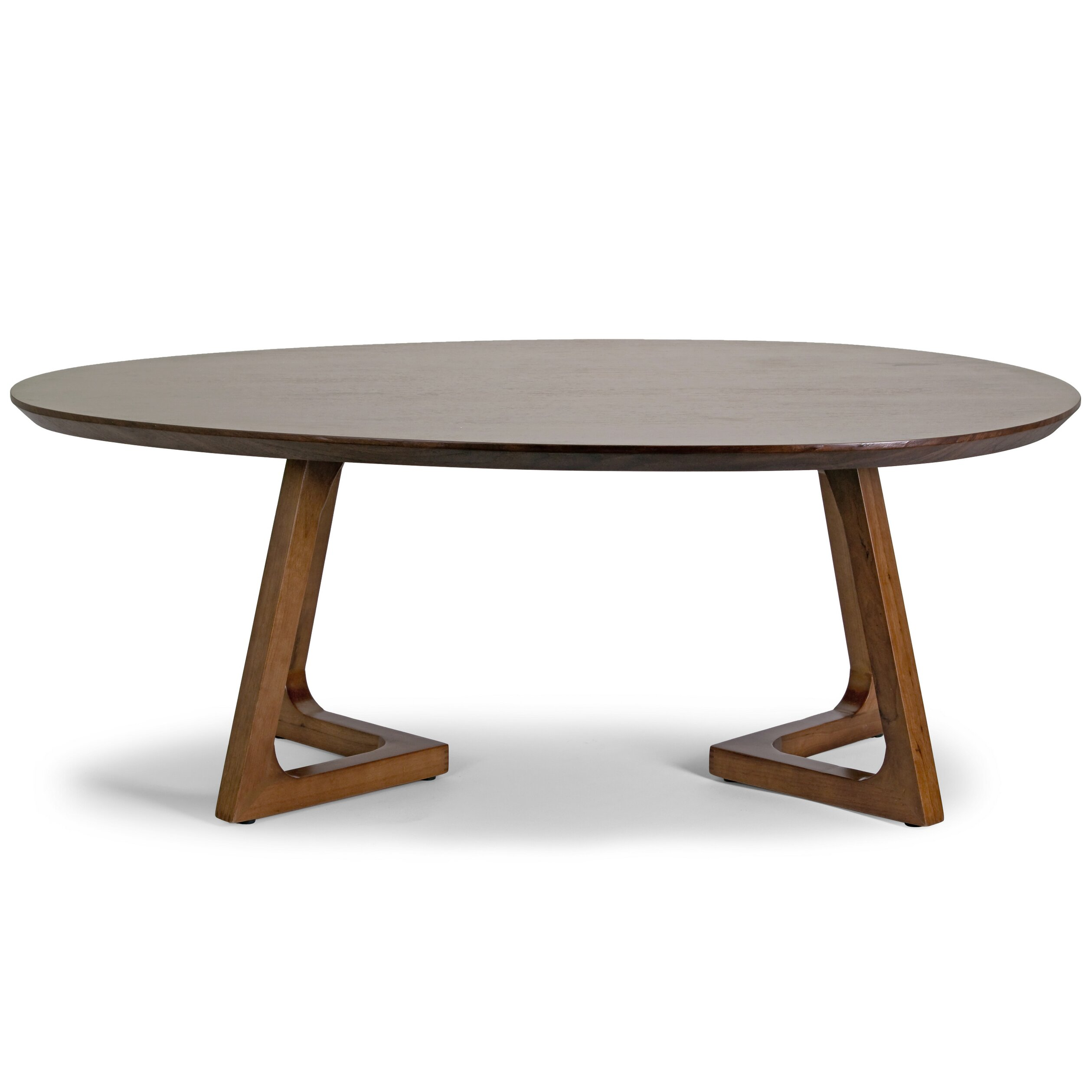Glamour home decor ailsa irregular oval coffee table wayfair for Wayfair oval coffee table