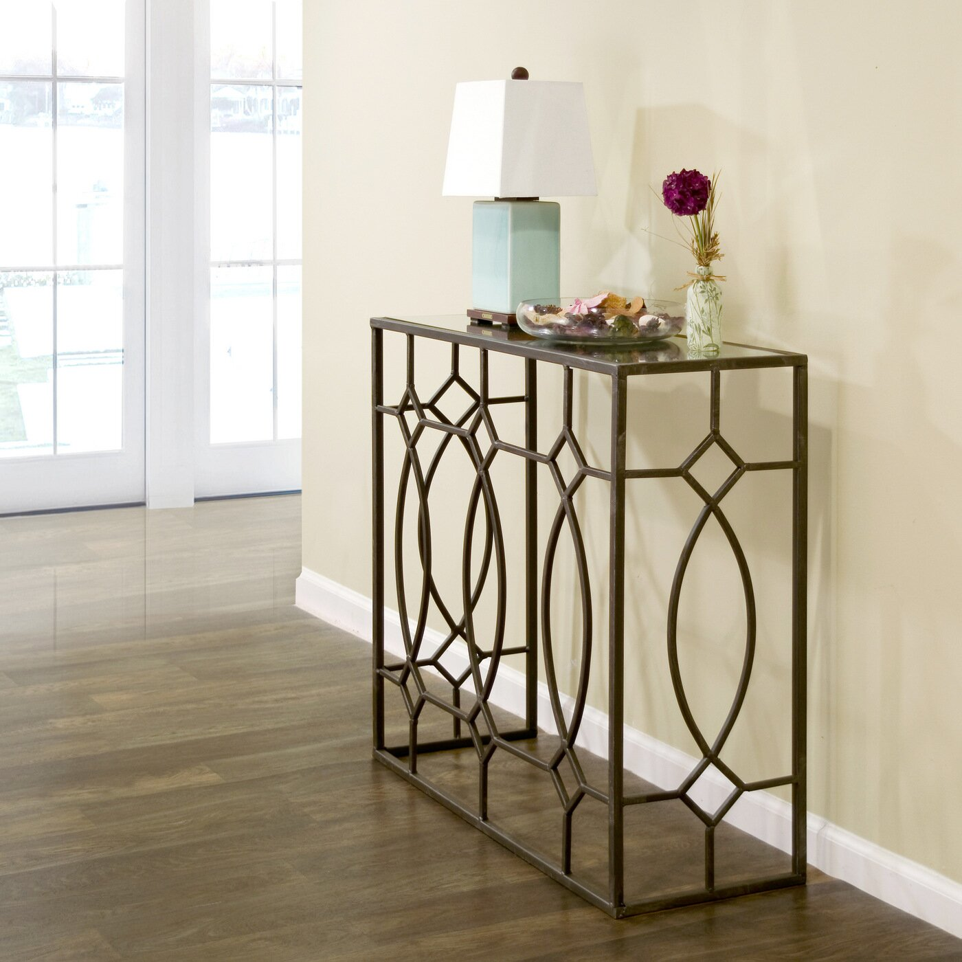 Glam Bedroom Design Photo By Wayfair: Glamour Home Decor Aaralyn Mirrored Console Table