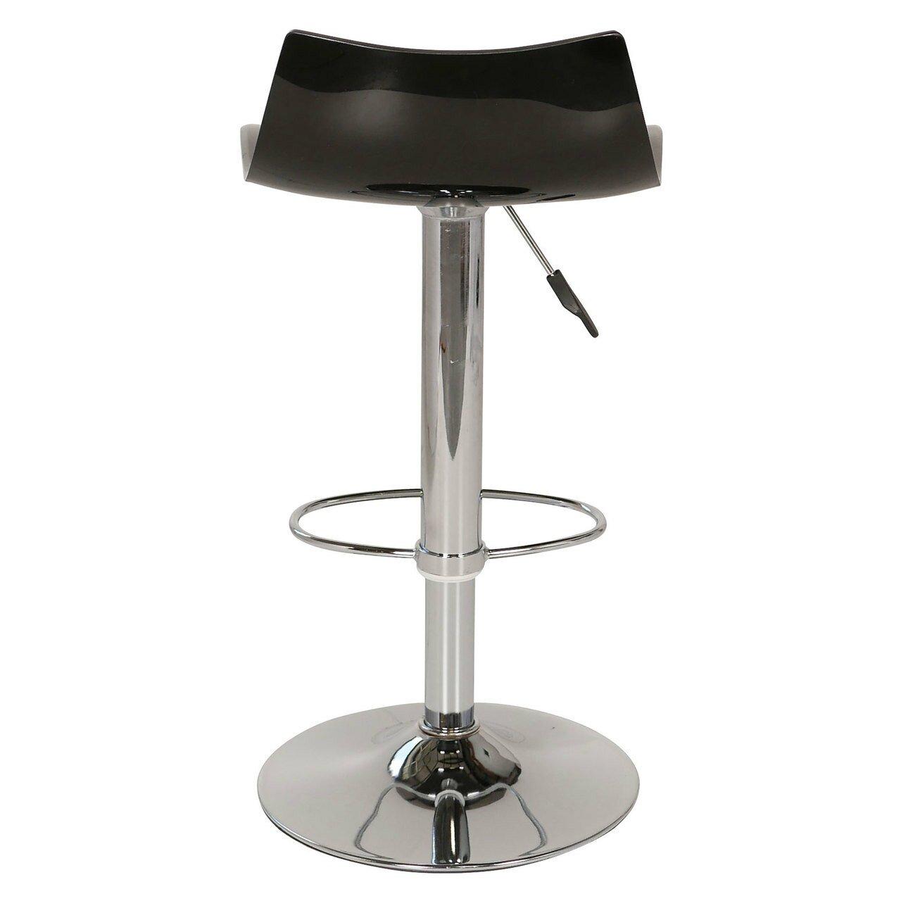 joseph allen lucite adjustable height swivel bar stool