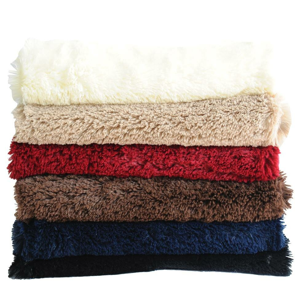 anna ricci faux long fur throw blanket reviews wayfair. Black Bedroom Furniture Sets. Home Design Ideas