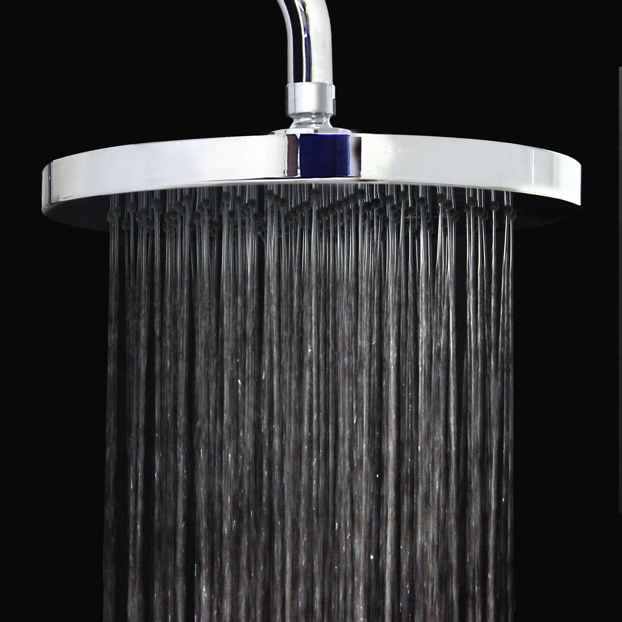 Modona long arm 2 5 gpm rain shower head wayfair - Glass shower head ...