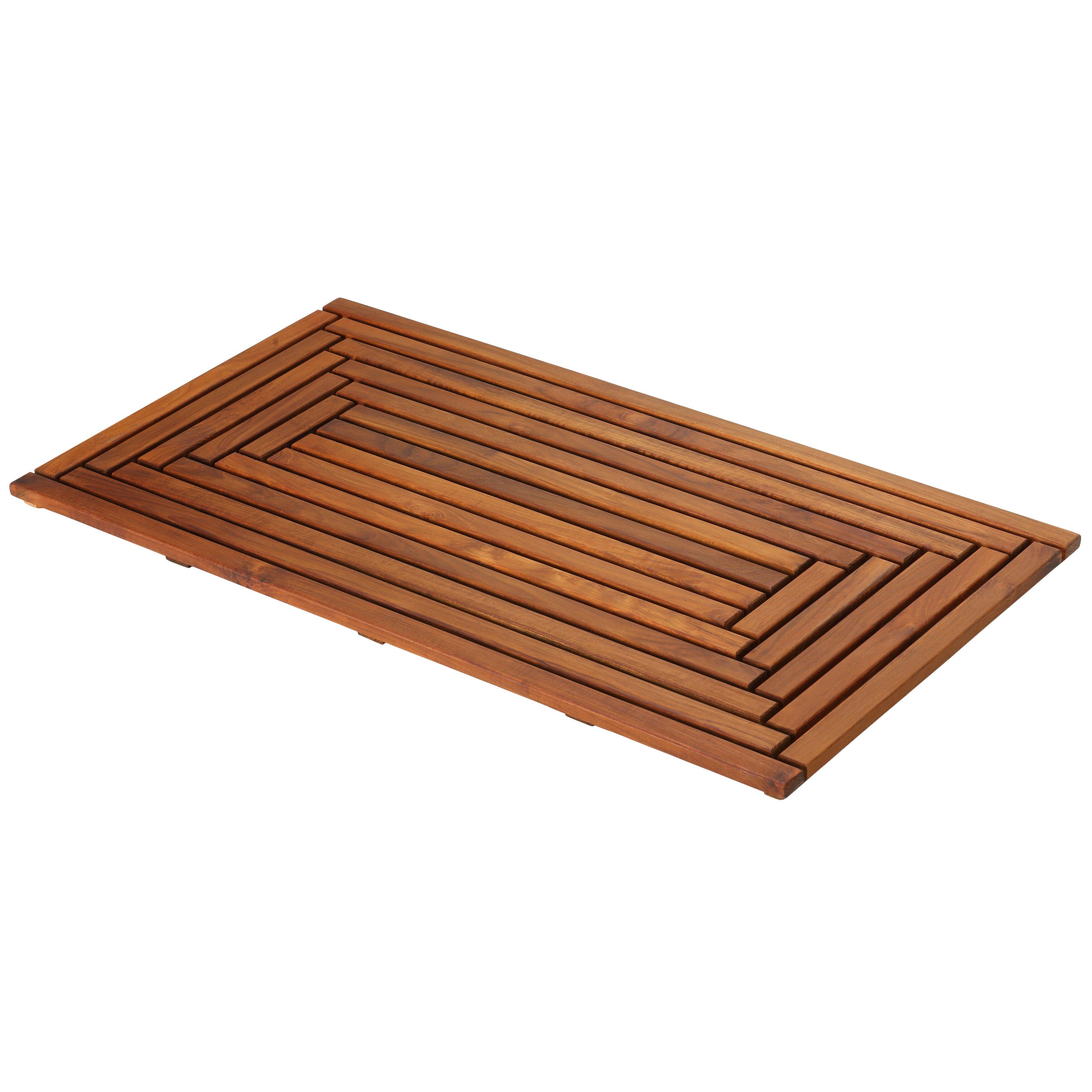baredecor solid teak wood shower mat reviews. Black Bedroom Furniture Sets. Home Design Ideas