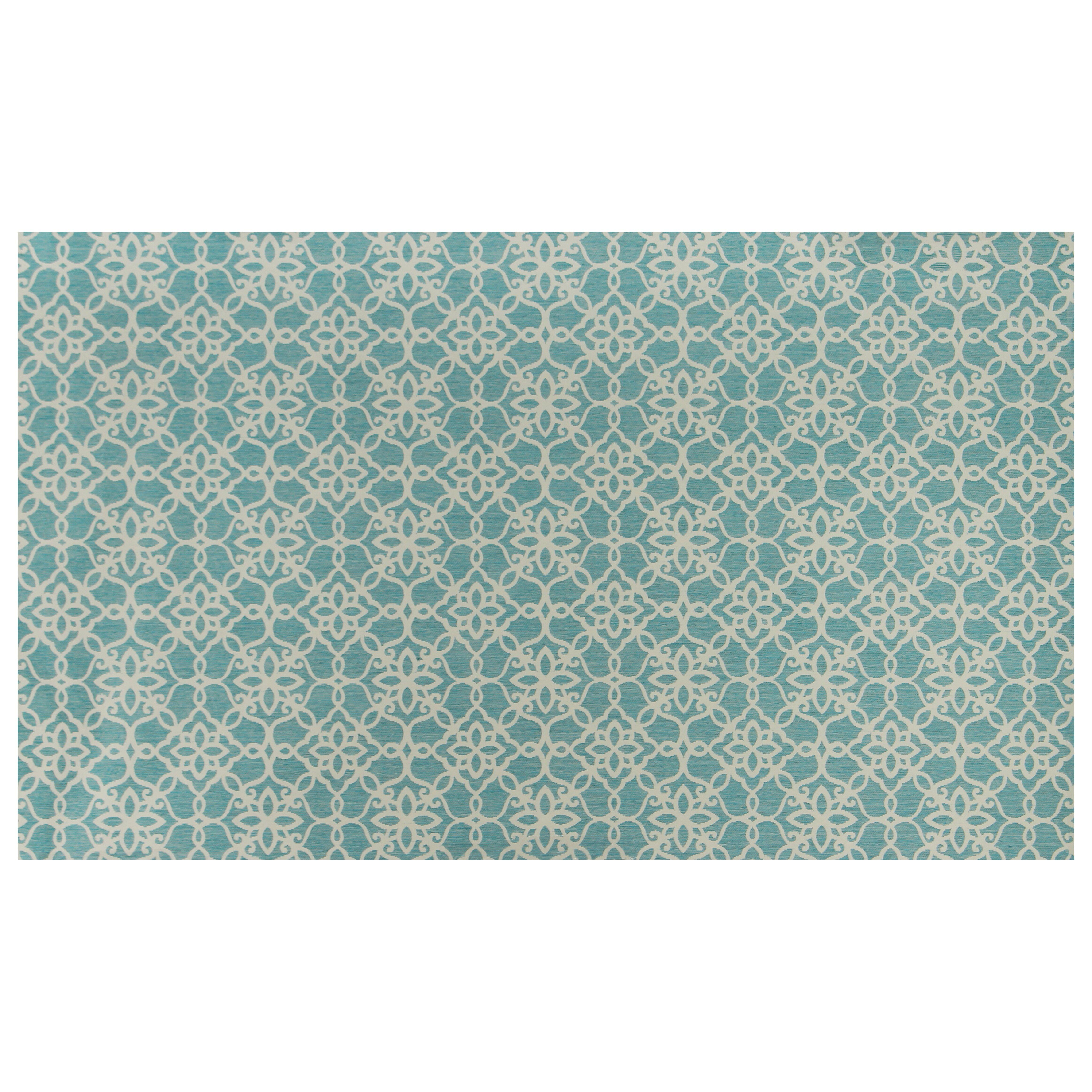 ruggable aqua blue and white area rug reviews wayfair. Black Bedroom Furniture Sets. Home Design Ideas
