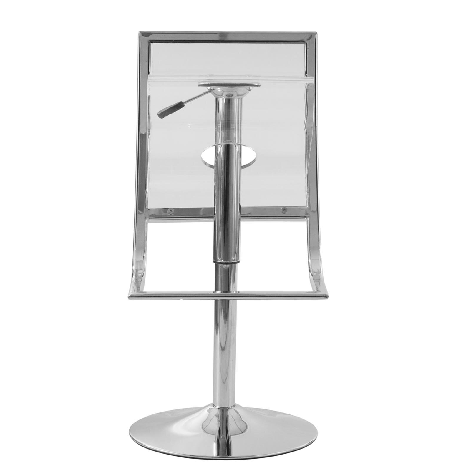 Leisuremod Napoli Adjustable Height Swivel Bar Stool