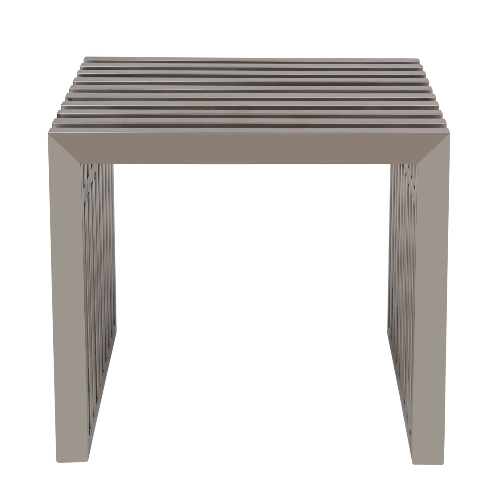 Metal Foyer Bench : Leisuremod eldert metal entryway bench wayfair