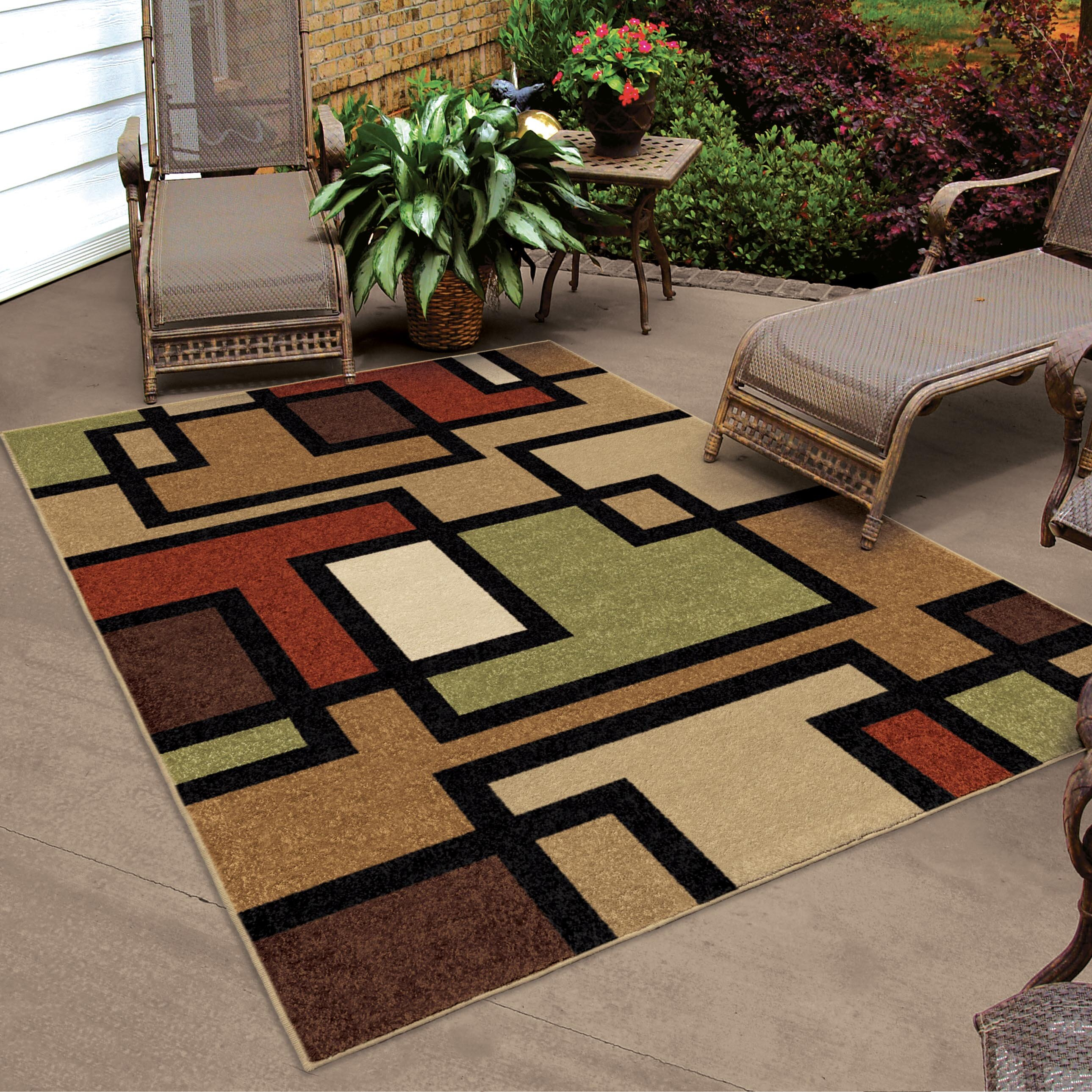 Threadbind thorne brown indoor outdoor area rug reviews for Indoor out door rugs