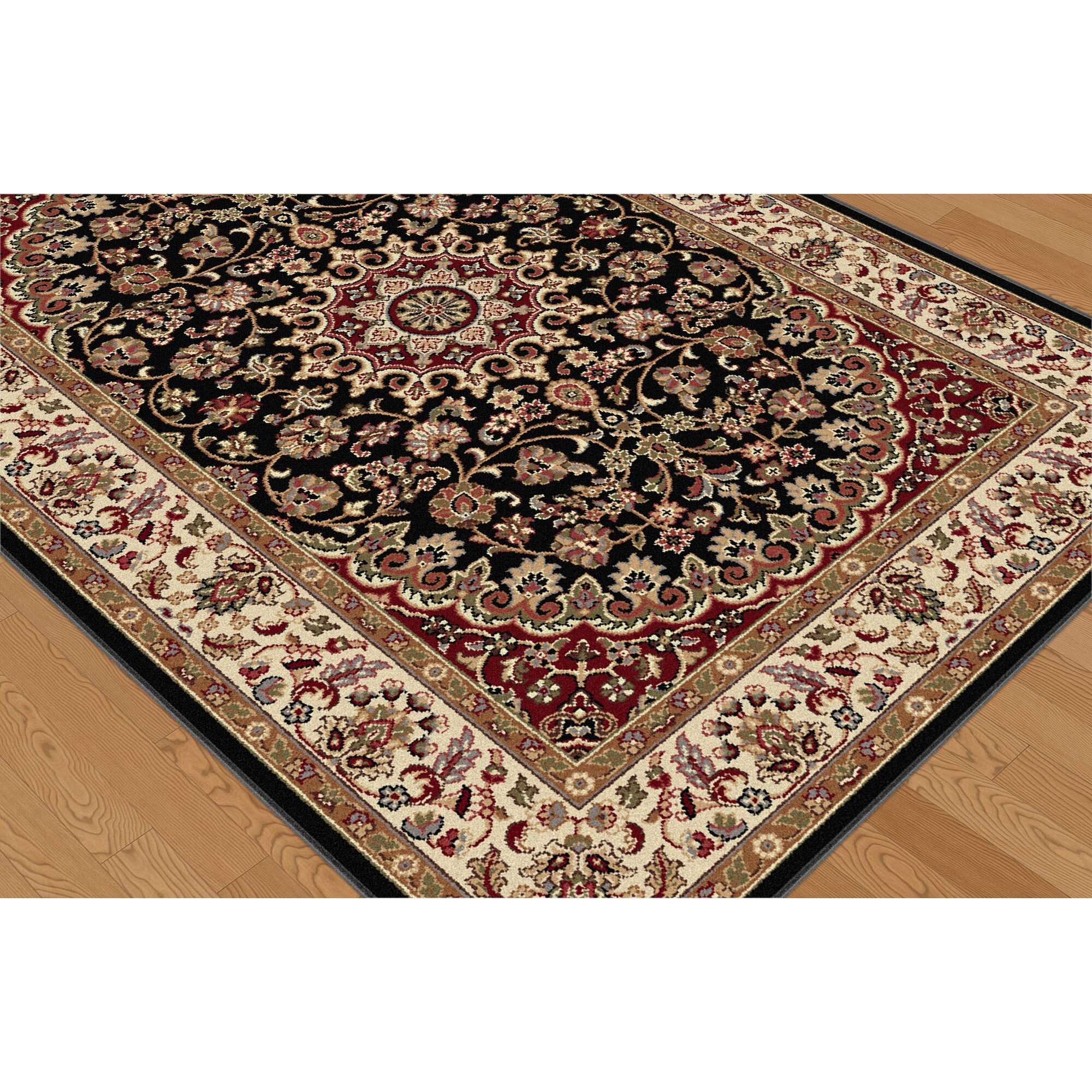 Threadbind Litchford Black/Red Area Rug & Reviews