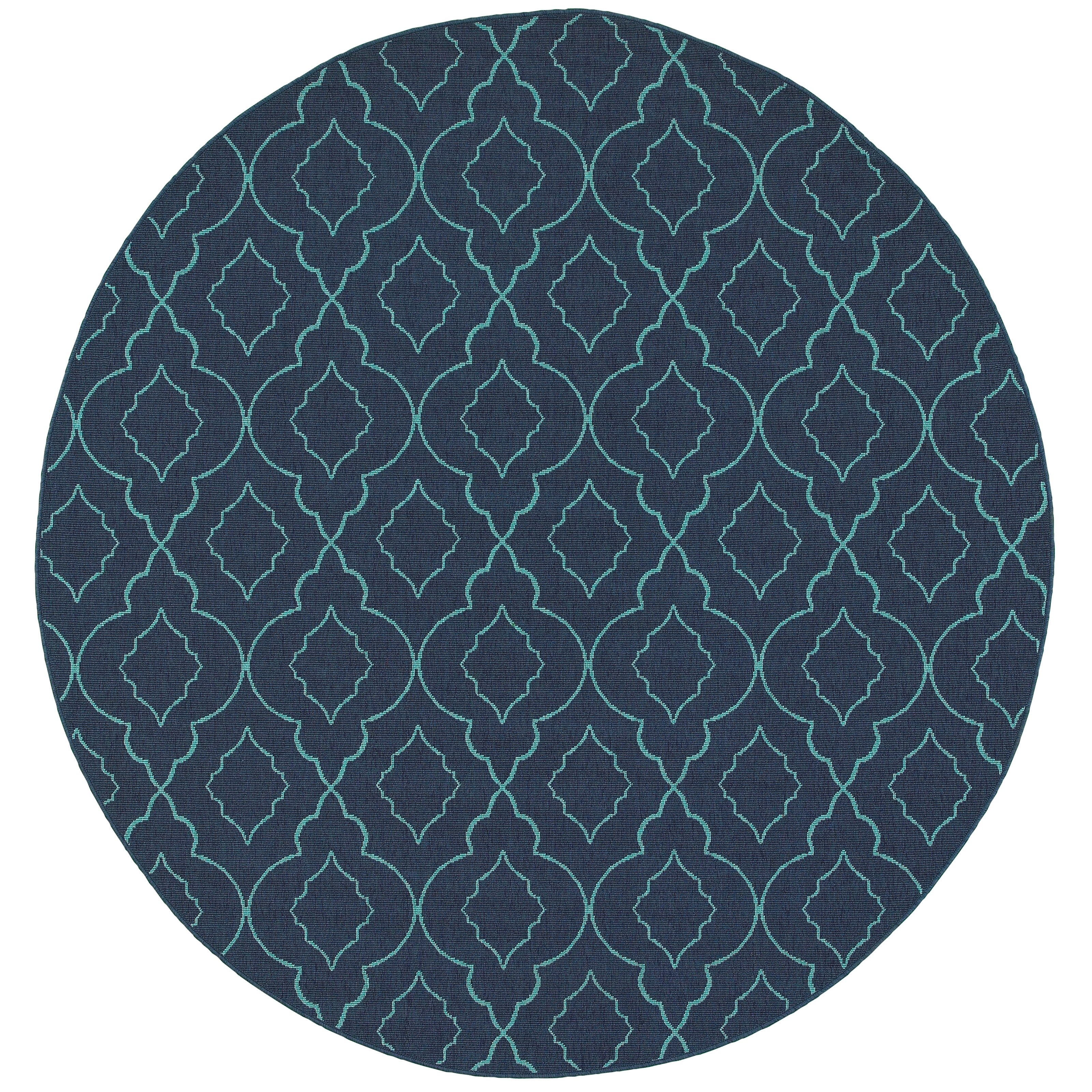 Threadbind Cortlandt Navy Blue Indoor Outdoor Area Rug