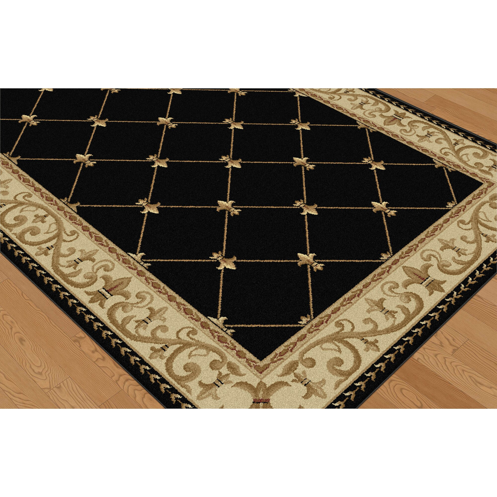 Large Area Rugs Gold: Threadbind Richmond Black/Gold Area Rug & Reviews