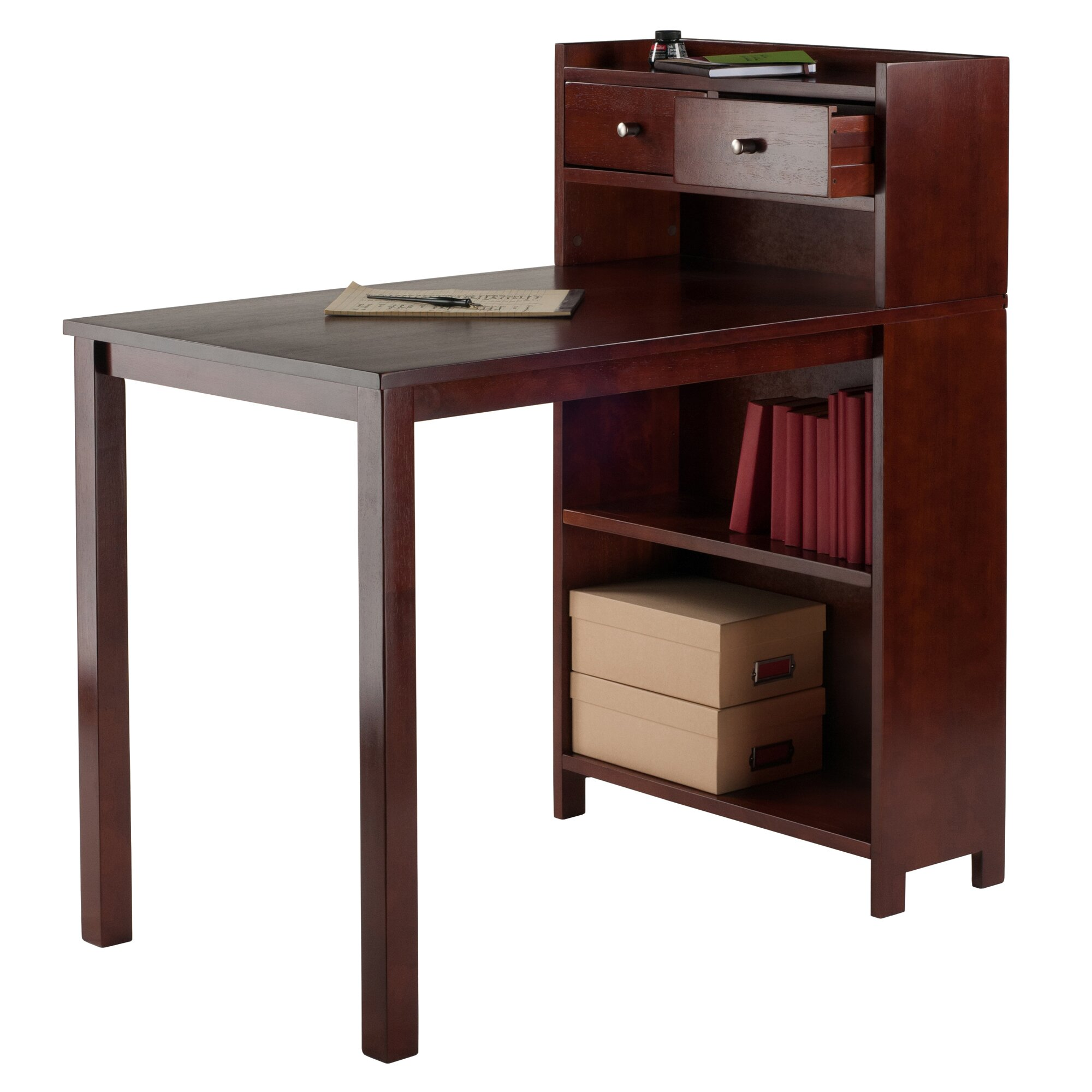Wonderful image of Latitude Run Mason Writing Desk with Storage Shelf Wayfair with #371814 color and 2000x2000 pixels