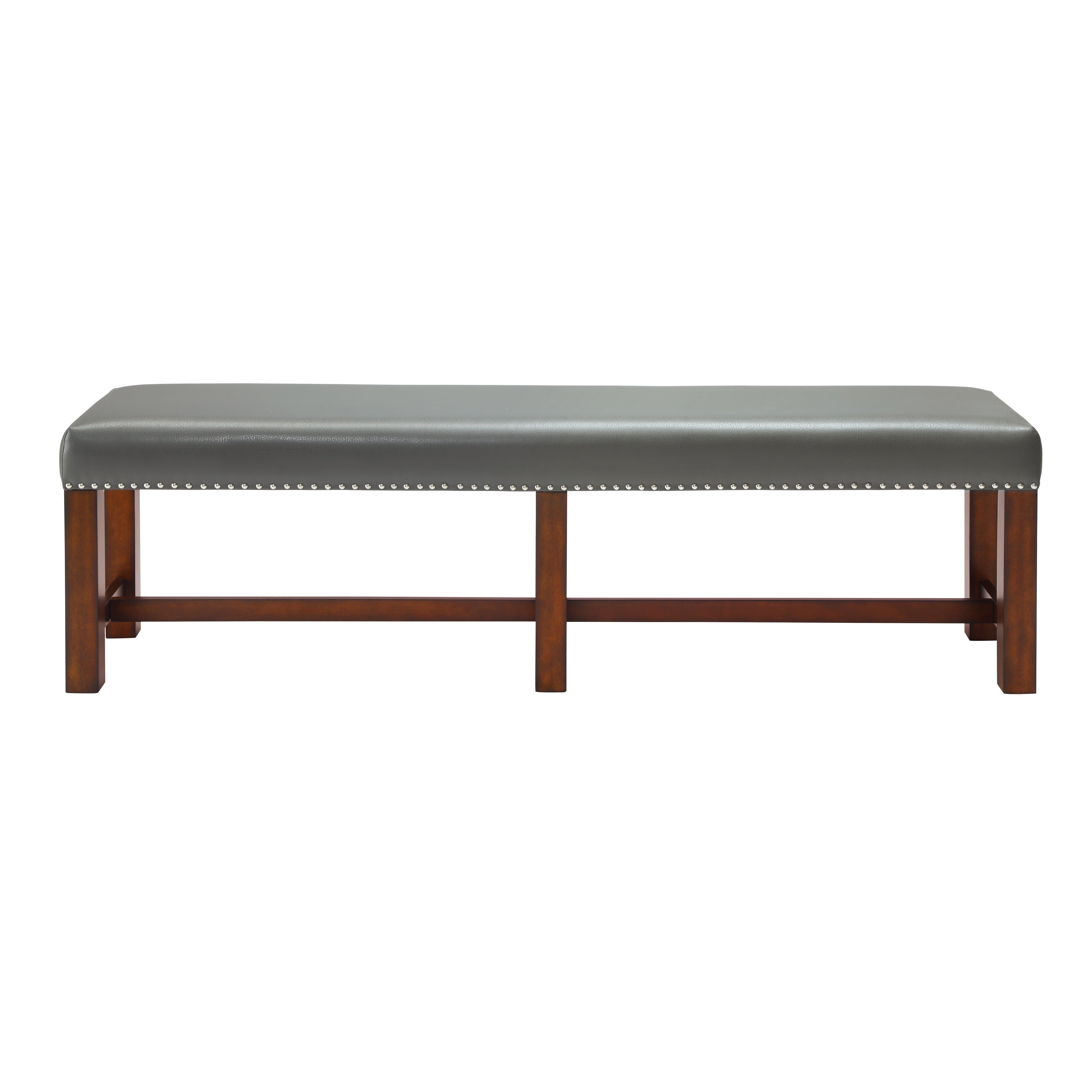Foyer Leather Bench : Latitude run zaria leather entryway bench reviews wayfair
