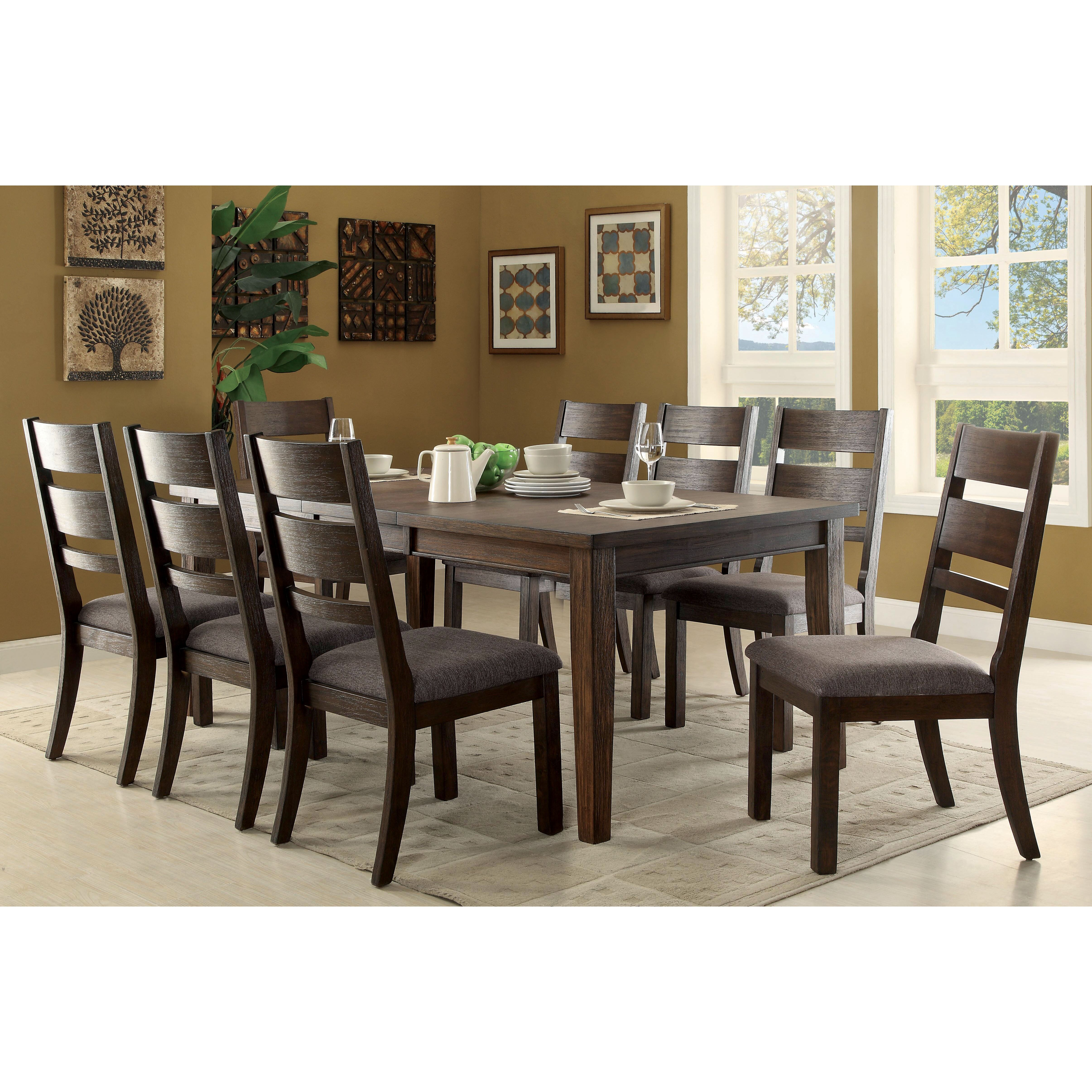 Latitude run rozelle 9 piece dining set wayfair for Dining room tables 9 piece