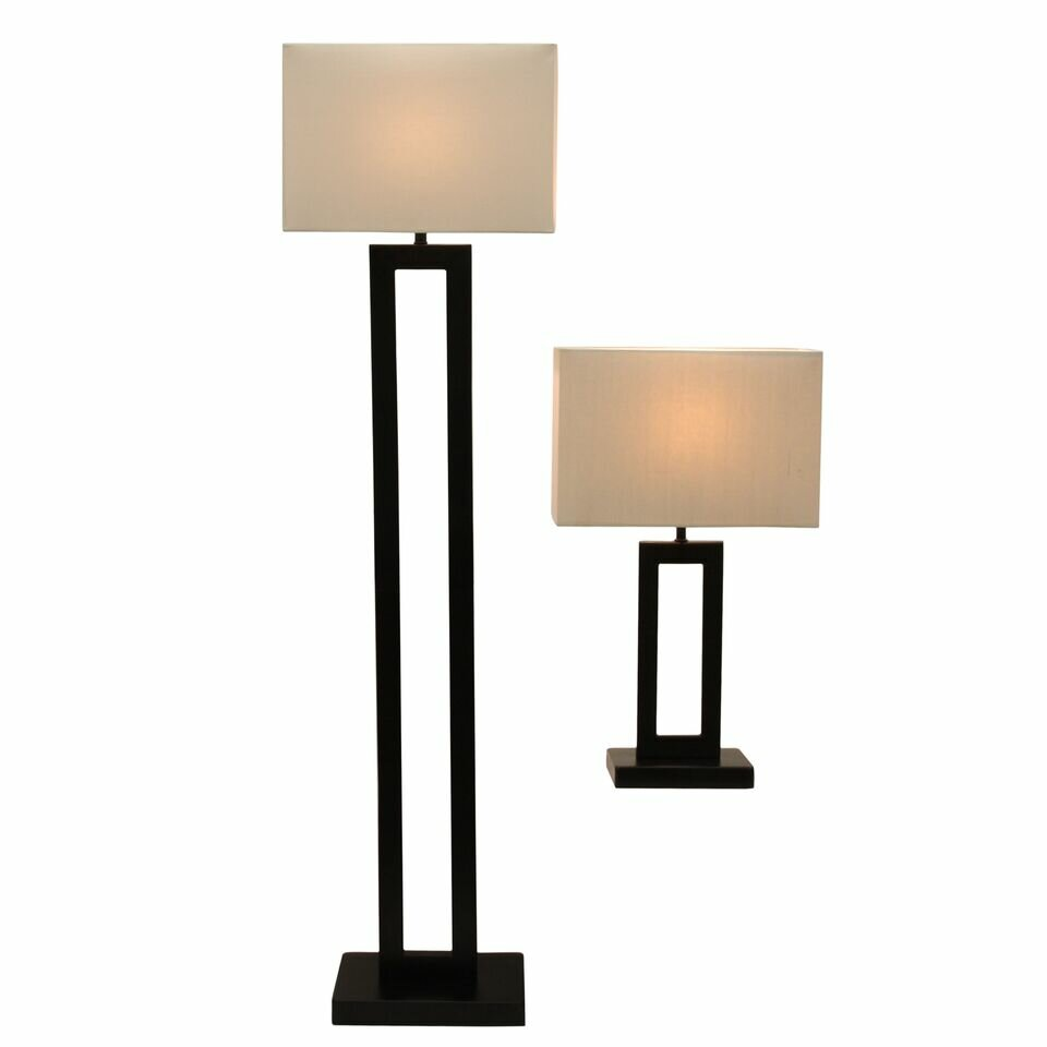 run reese 2 piece table and floor lamp set reviews wayfair. Black Bedroom Furniture Sets. Home Design Ideas