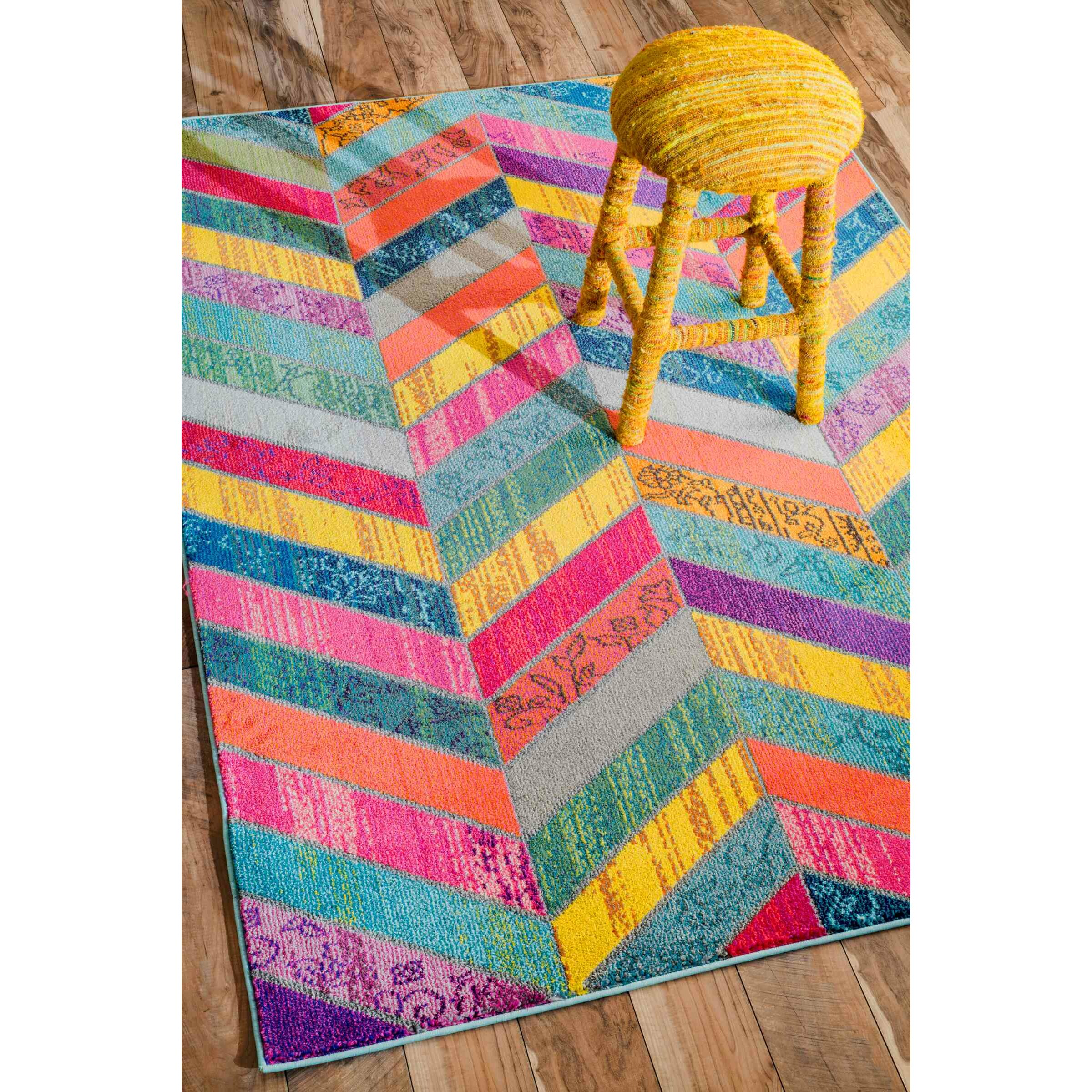 Latitude Run Sydnee Pink/Green/Yellow Area Rug & Reviews