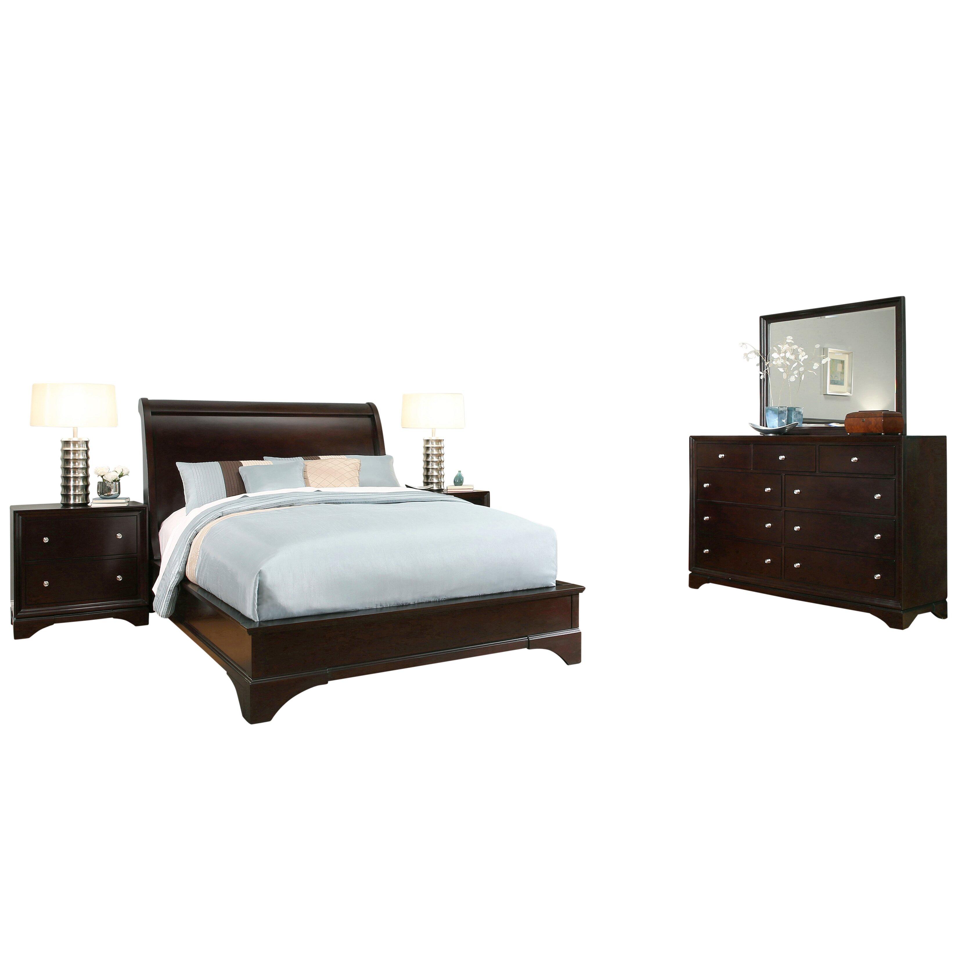 Latitude run juliana sleigh 5 piece bedroom set wayfair for Bedroom 5 piece sets