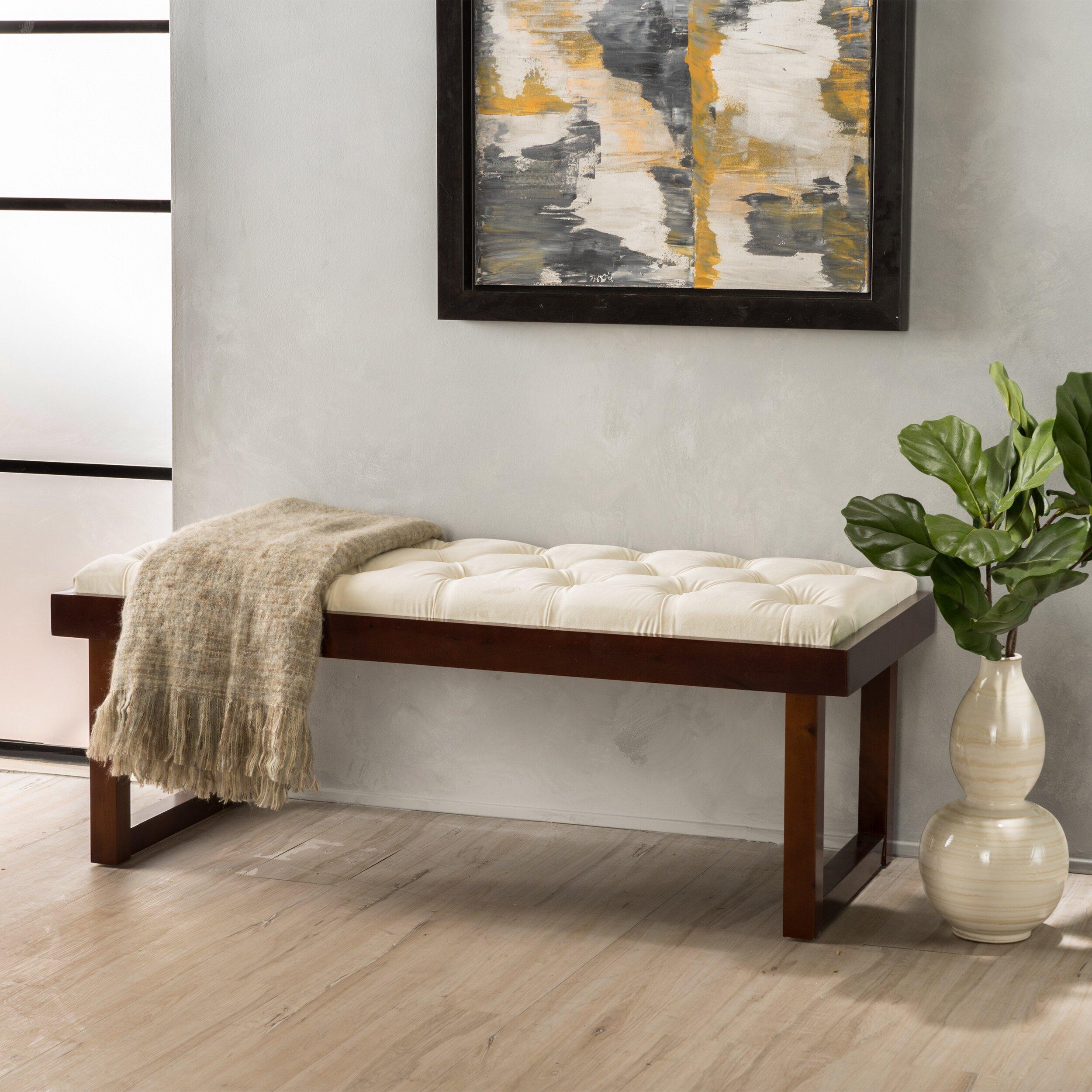 upholstered bedroom bench. iconic home neil upholstered bedroom