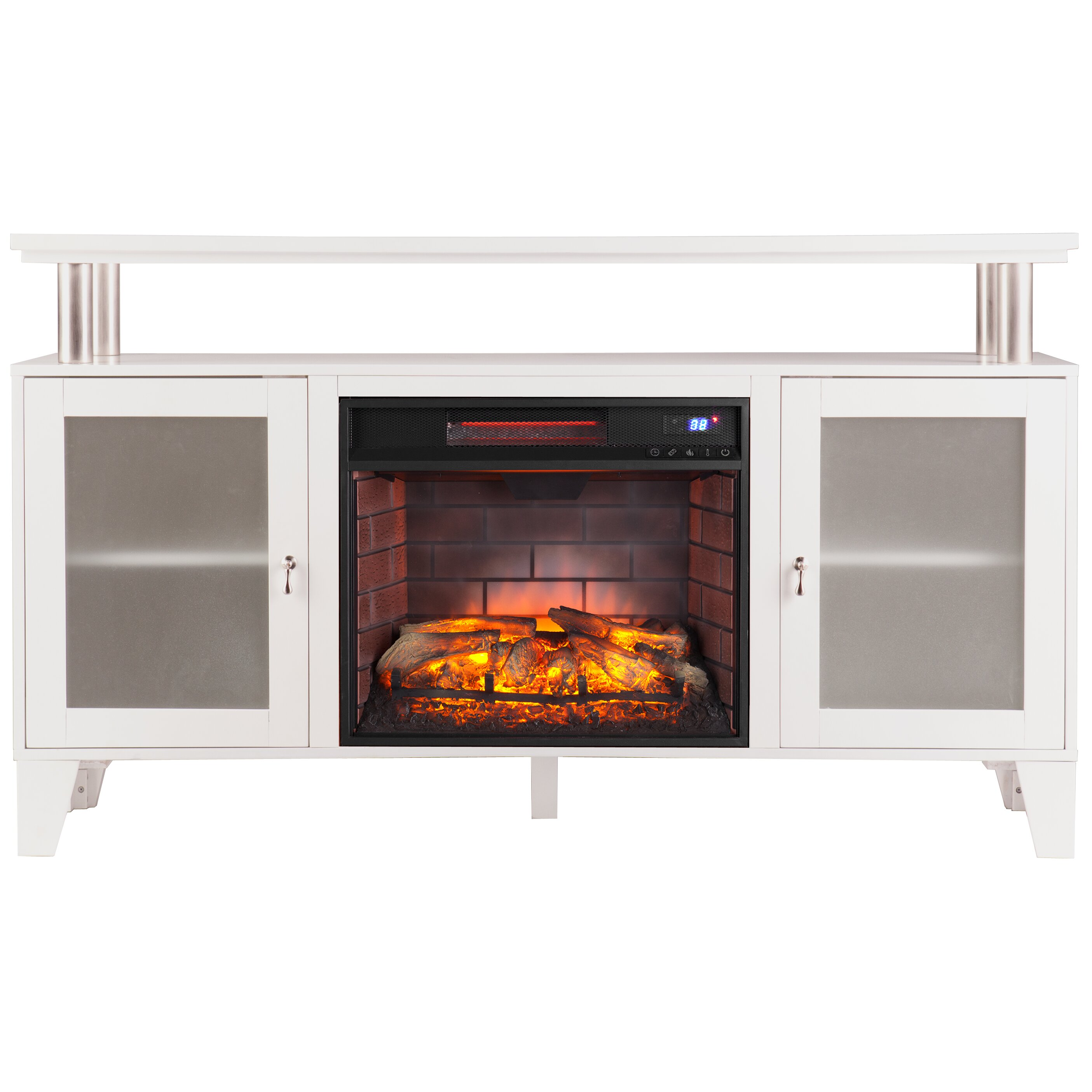 Latitude Run Kastel Media Infrared Electric Fireplace Reviews Wayfair