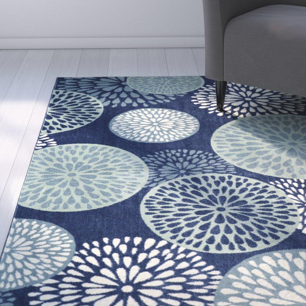 Latitude Run Annan Blue Indoor Area Rug & Reviews | Wayfair